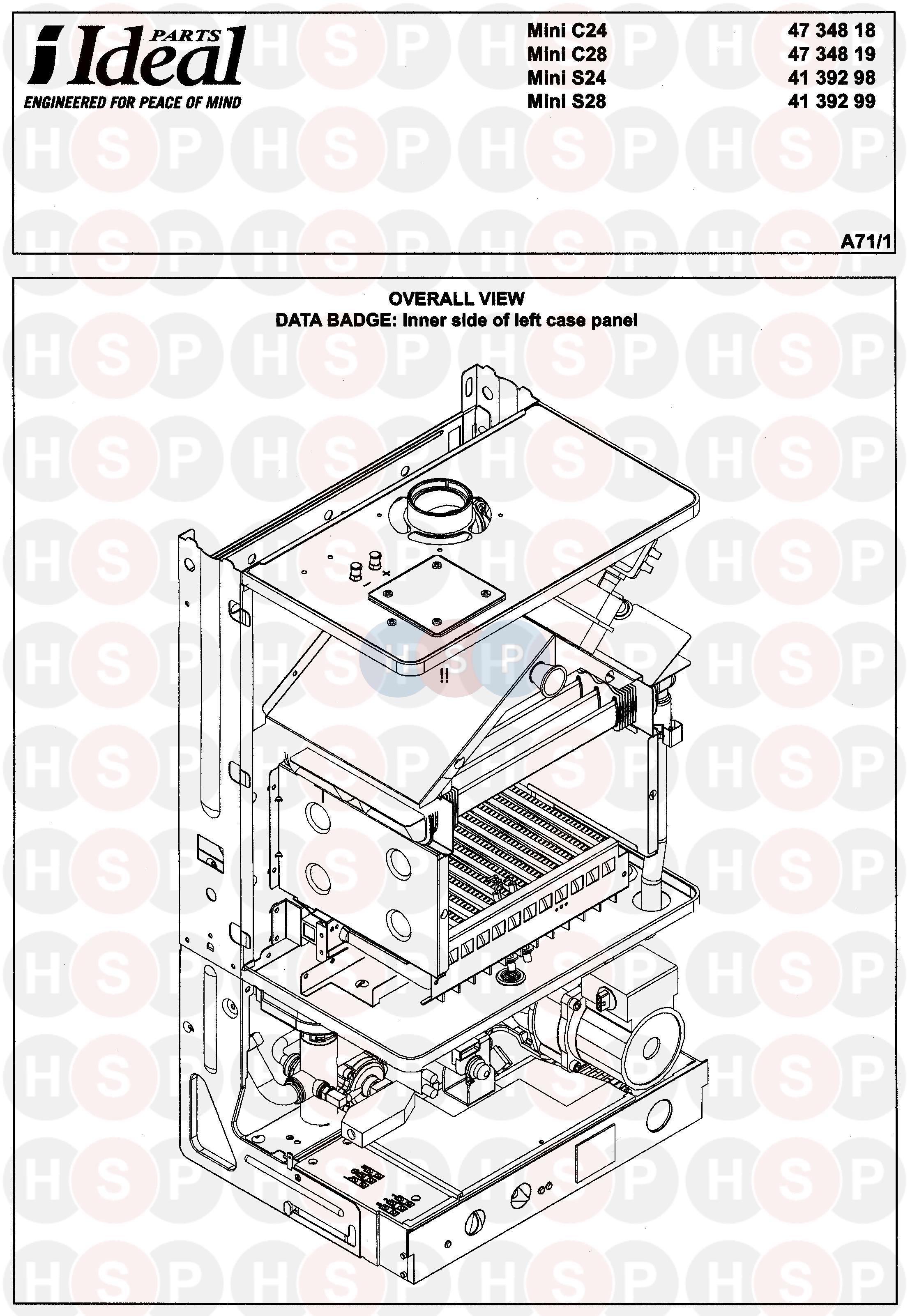 Ideal Mini C28  Boiler  Diagram
