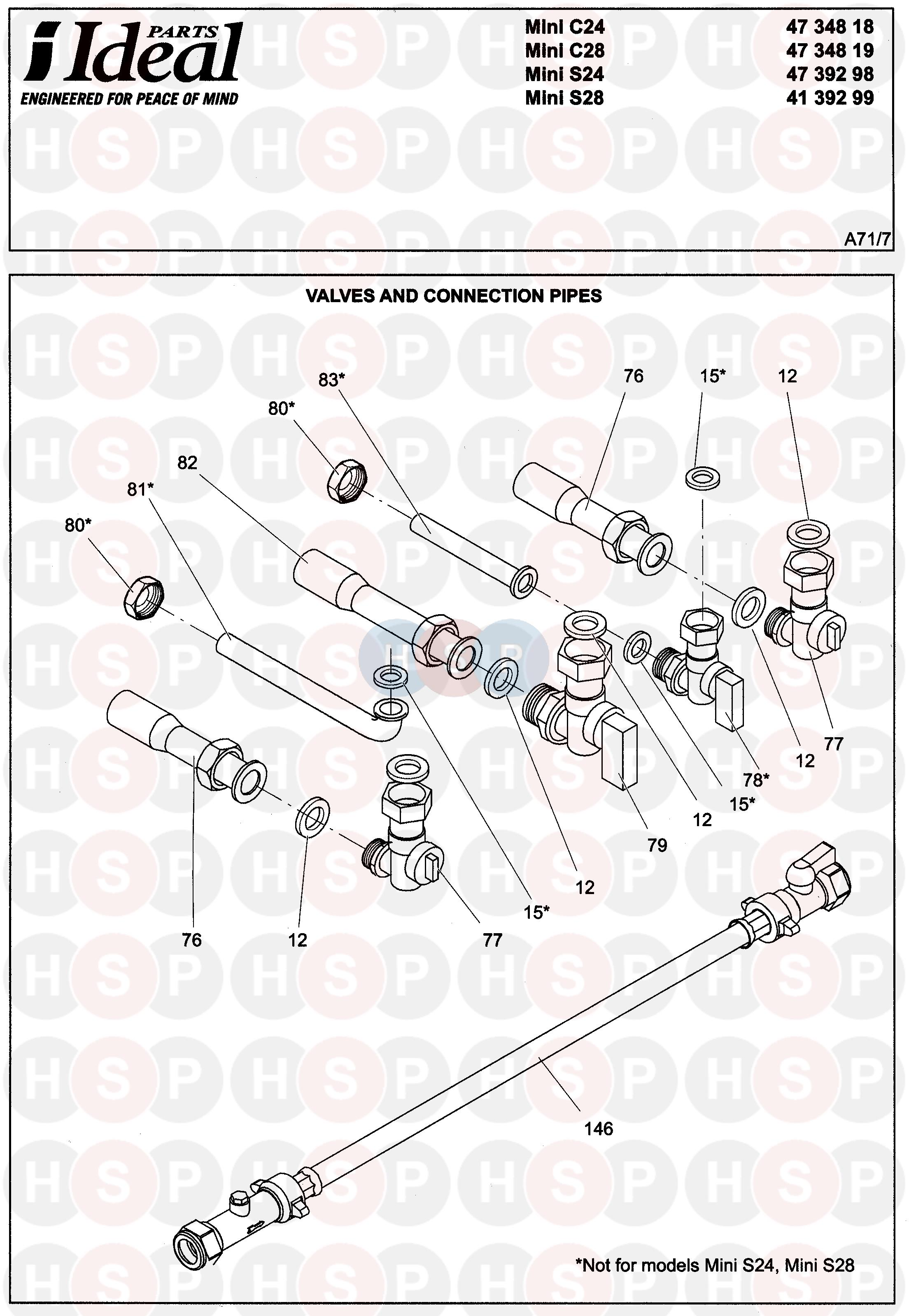 ideal mini c24  valves  u0026 pipes  diagram