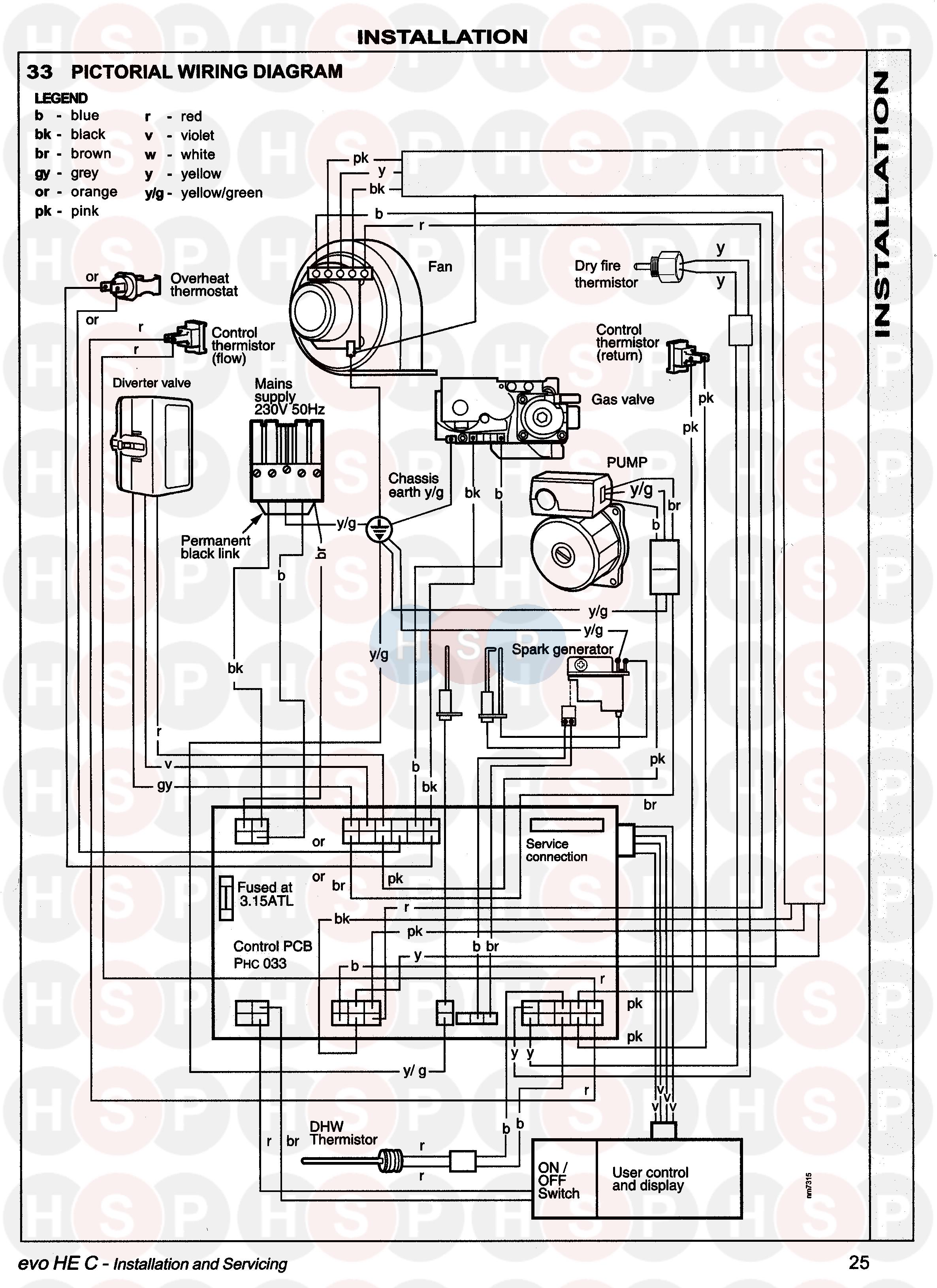 ideal evo he c22  35 appliance diagram  wiring diagram 1