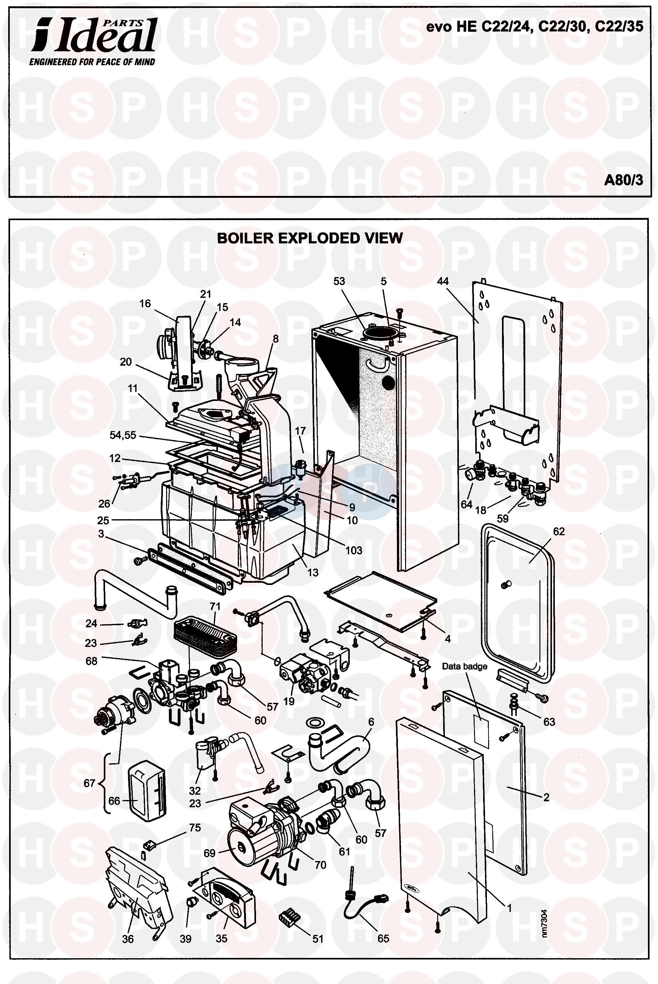 Ideal Evo He C22  35  Boiler Diagram