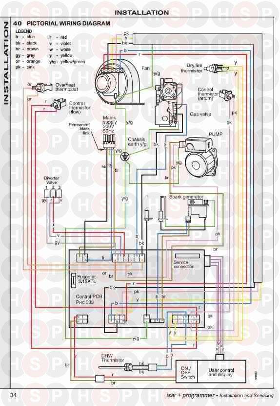 Ideal ISAR HE30 (IDEAL ISAR INSTALTION WIRING DIAGRAM ... on