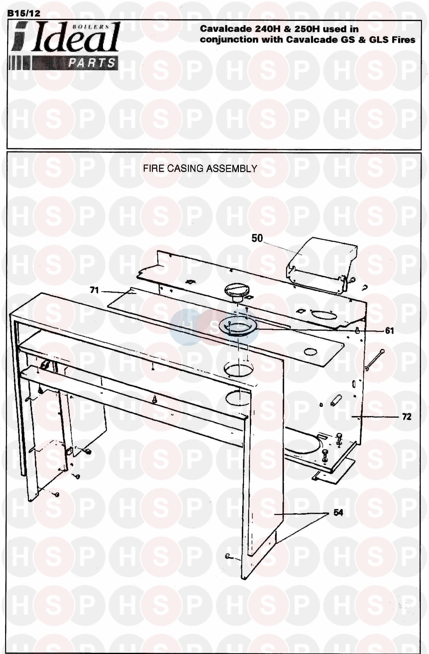 ideal cavalcade 240h  fire assembly 4  diagram