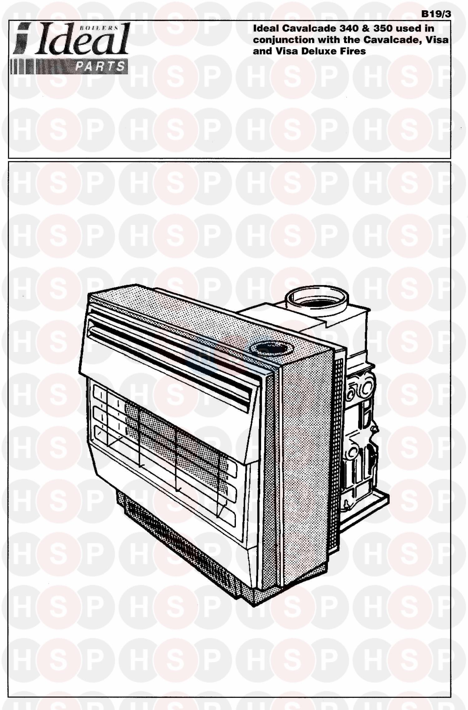 APPLIANCE OVERVIEW diagram for Ideal VISA DELUXE FIRE