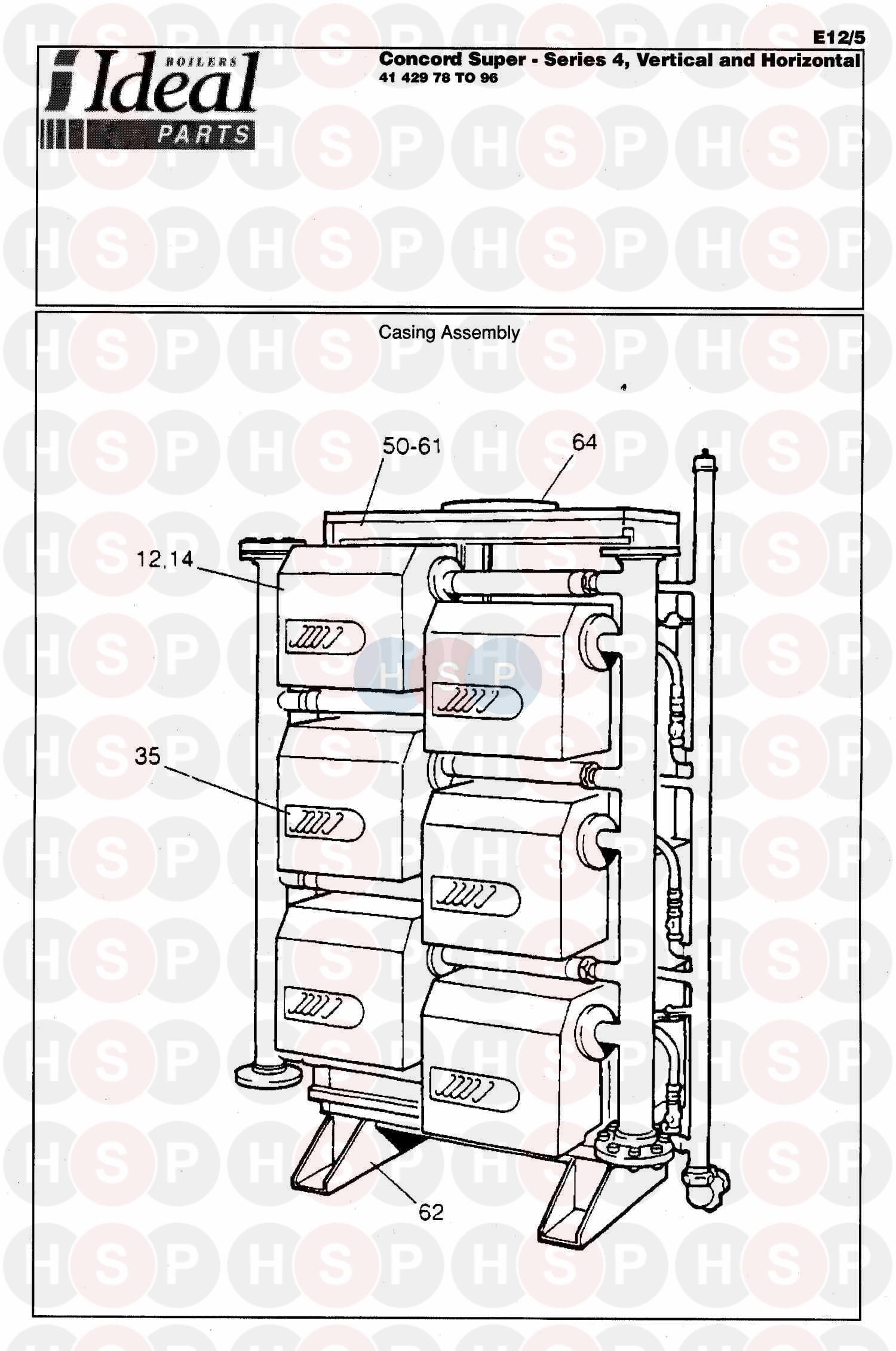 Ideal CONCORD SUPER SERIES 4- 400 V & H (Boiler Casing