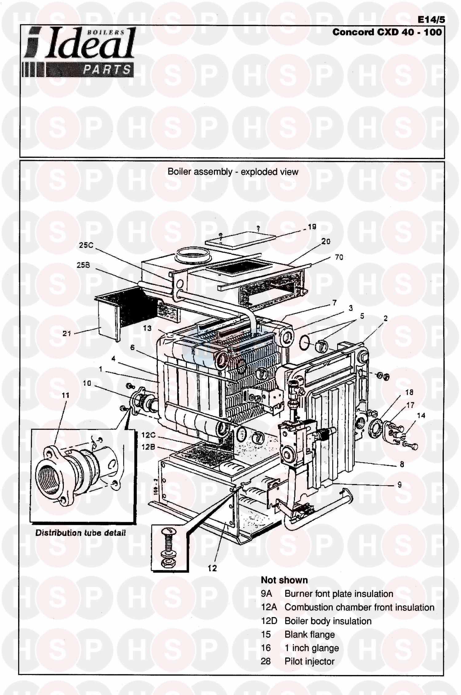 ideal concord cxd 3 90 boiler assembly 1 diagram. Black Bedroom Furniture Sets. Home Design Ideas