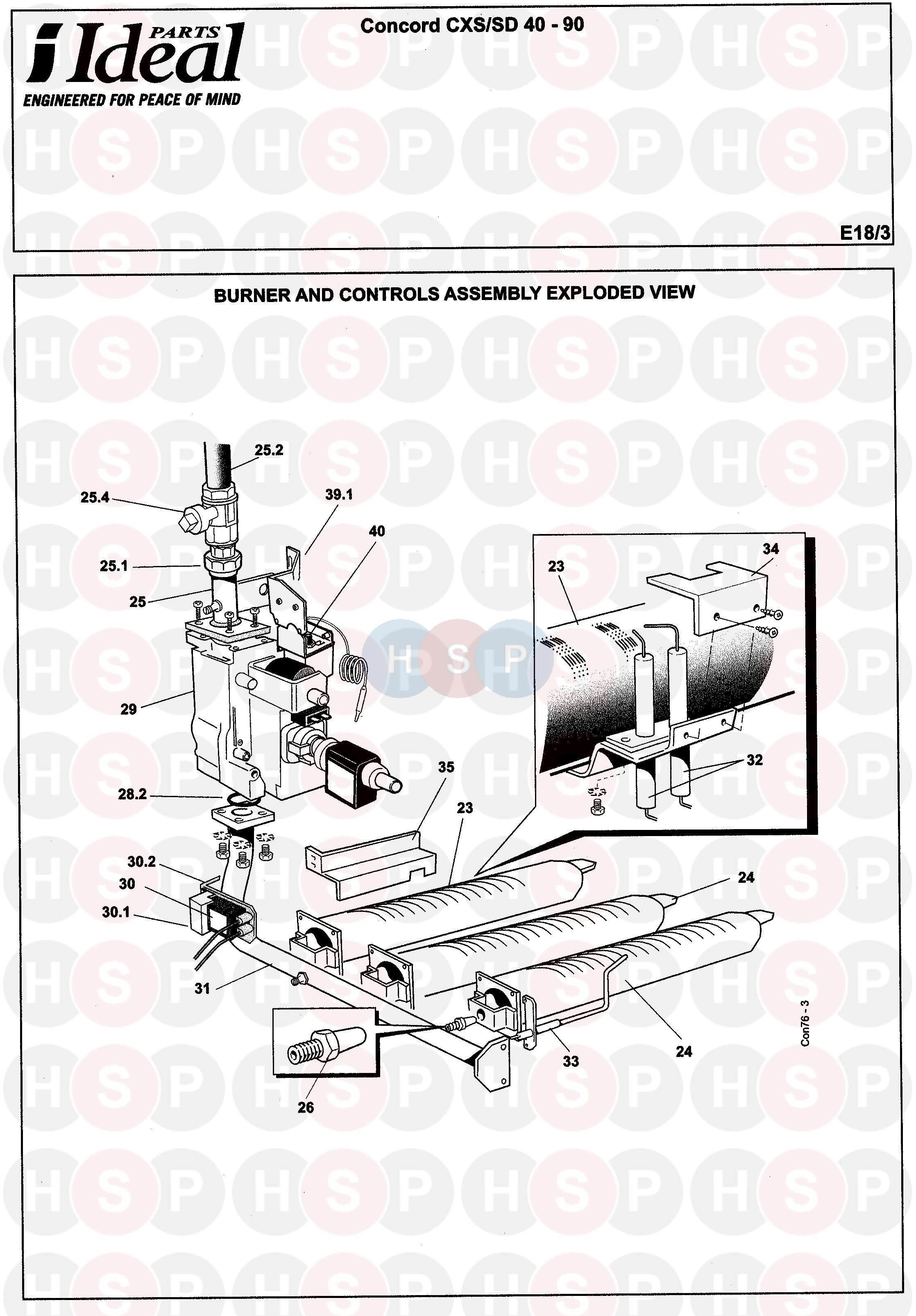 ideal concord cxsd 40 120 gas assembly 1 diagram. Black Bedroom Furniture Sets. Home Design Ideas