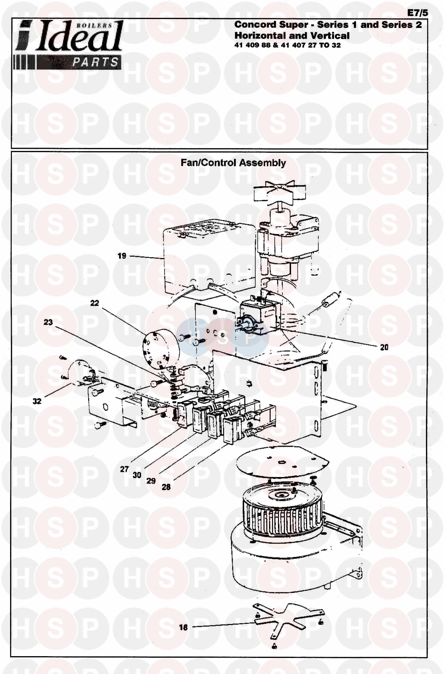 Ideal CONCORD SUPER 50 SERIES 2 (BOILER ASSEMBLY 2