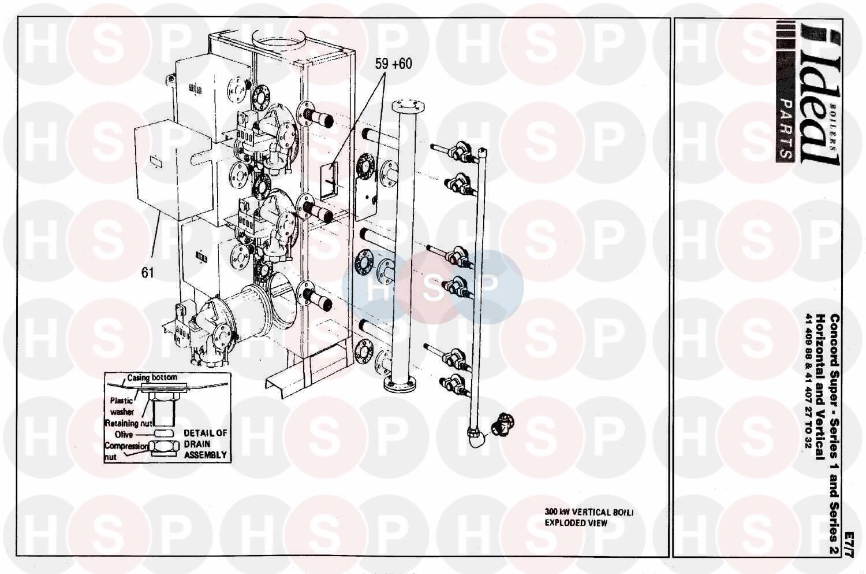 Ideal CONCORD SUPER 50 SERIES 2 (Boiler Casing) Diagram