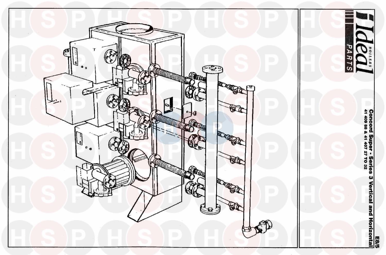Ideal CONCORD SUPER 300 V&H SERIES 3 (Boiler Casing