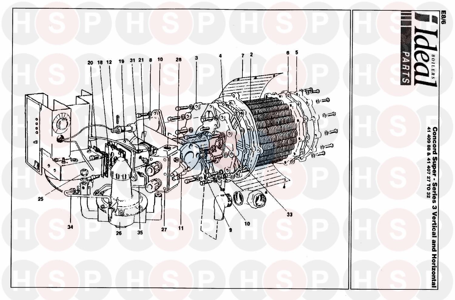 Ideal CONCORD SUPER 50 V&H SERIES 3 (BOILER ASSEMBLY 1