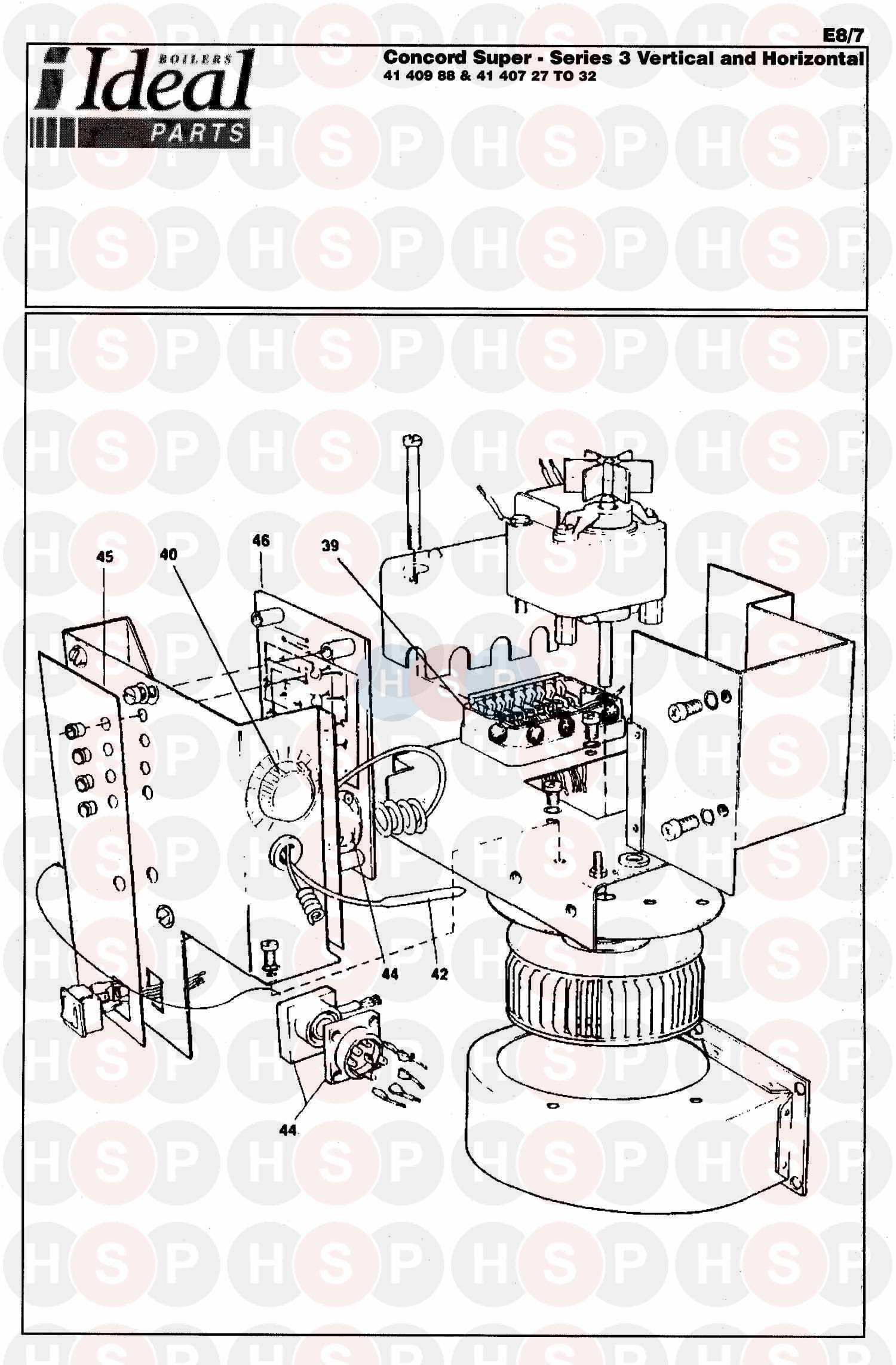 Ideal CONCORD SUPER 50 V&H SERIES 3 (BOILER ASSEMBLY 2