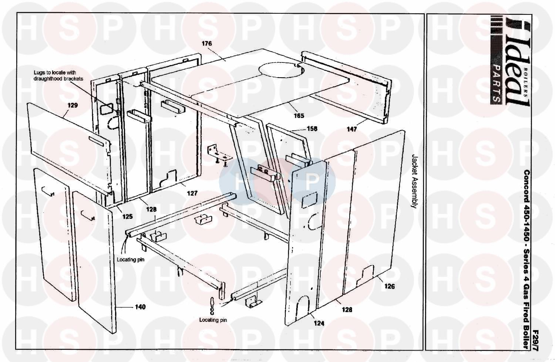 Ideal CONCORD 1150 SERIES 4 (Boiler Casing) Diagram