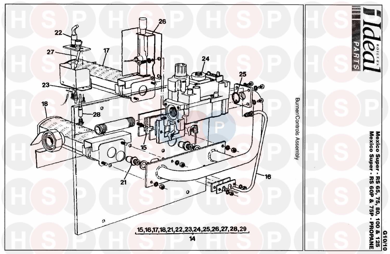 Boiler manuals: ideal mexico super cf 3/100.