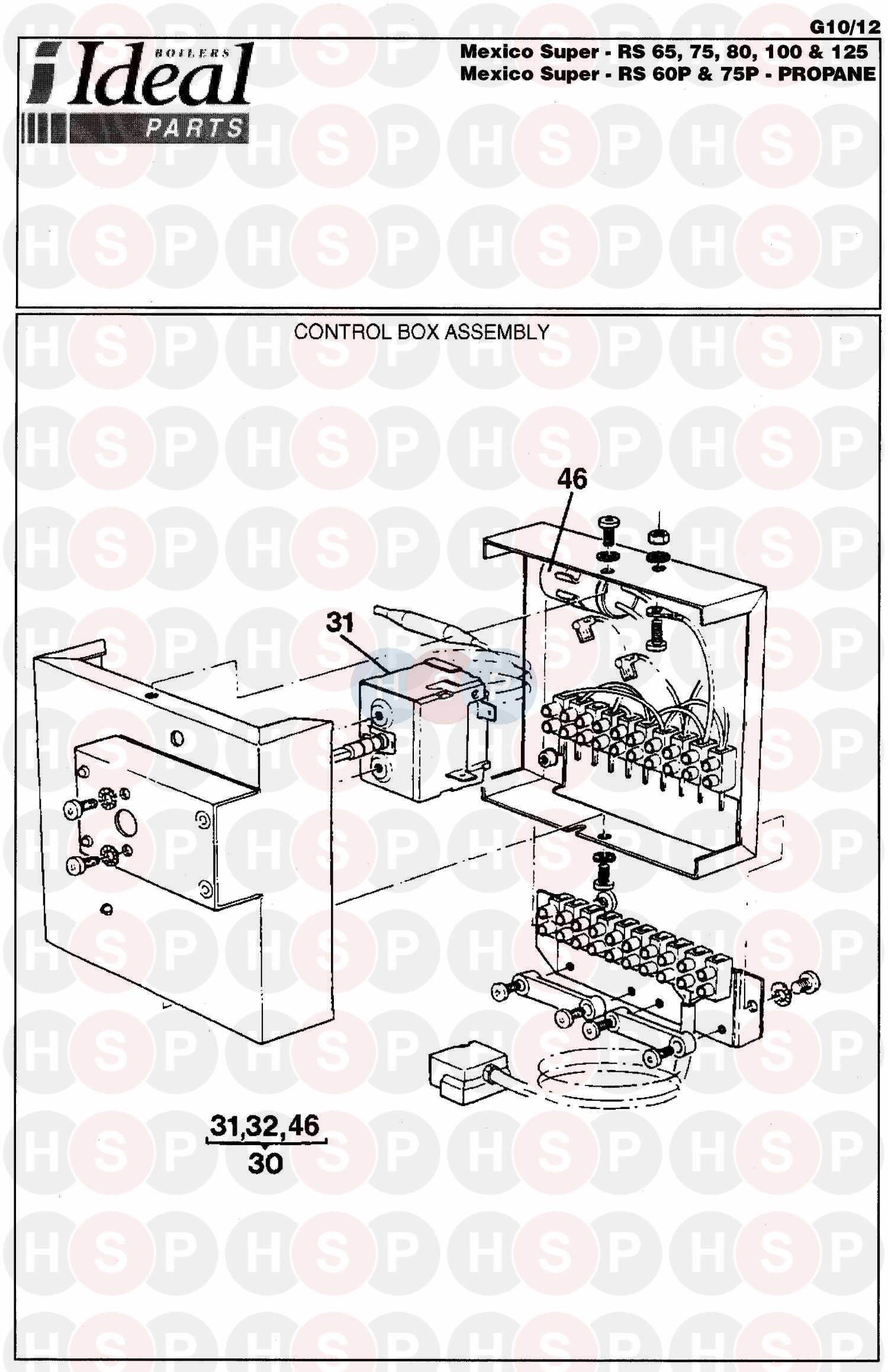 Ideal MEXICO SUPER RS 100 Appliance Diagram (Control Box