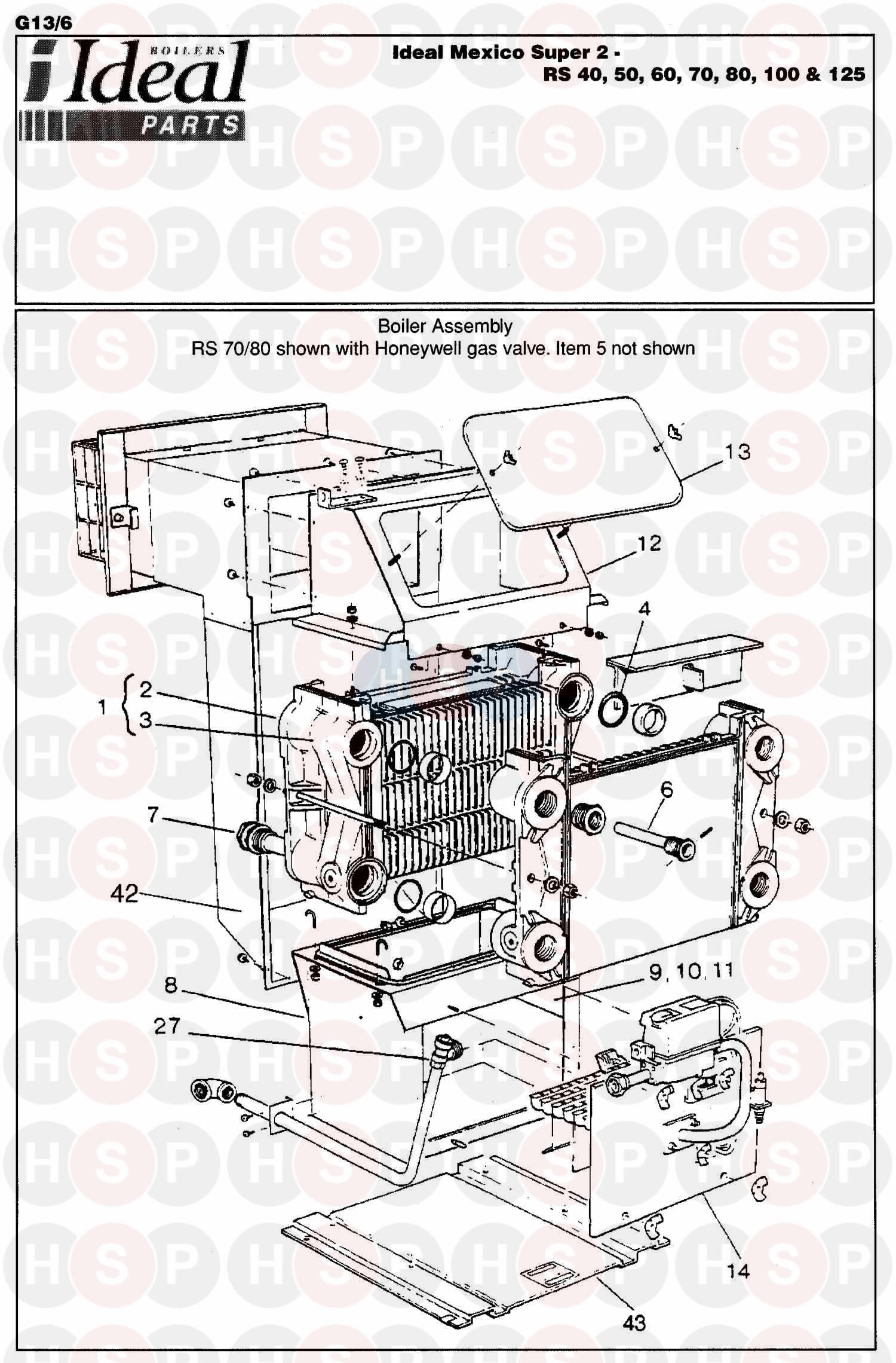 Ideal MEXICO SUPER 2 RS 60 (BOILER ASSEMBLY 1) Diagram