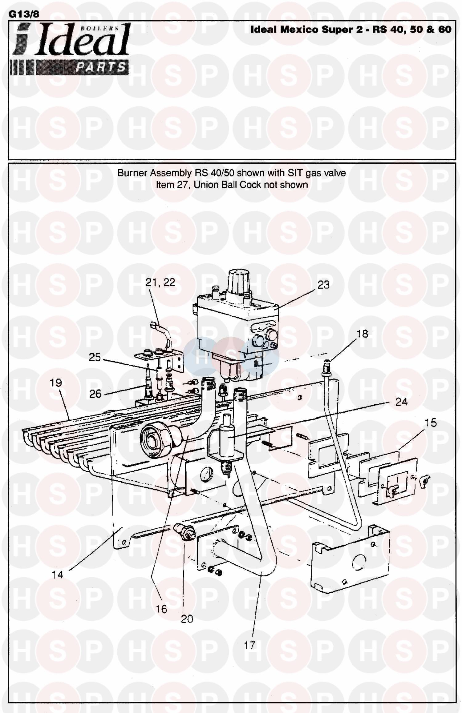 Ideal Mexico Super 2 Rs 60  Burner Control Ass 2 Diagram