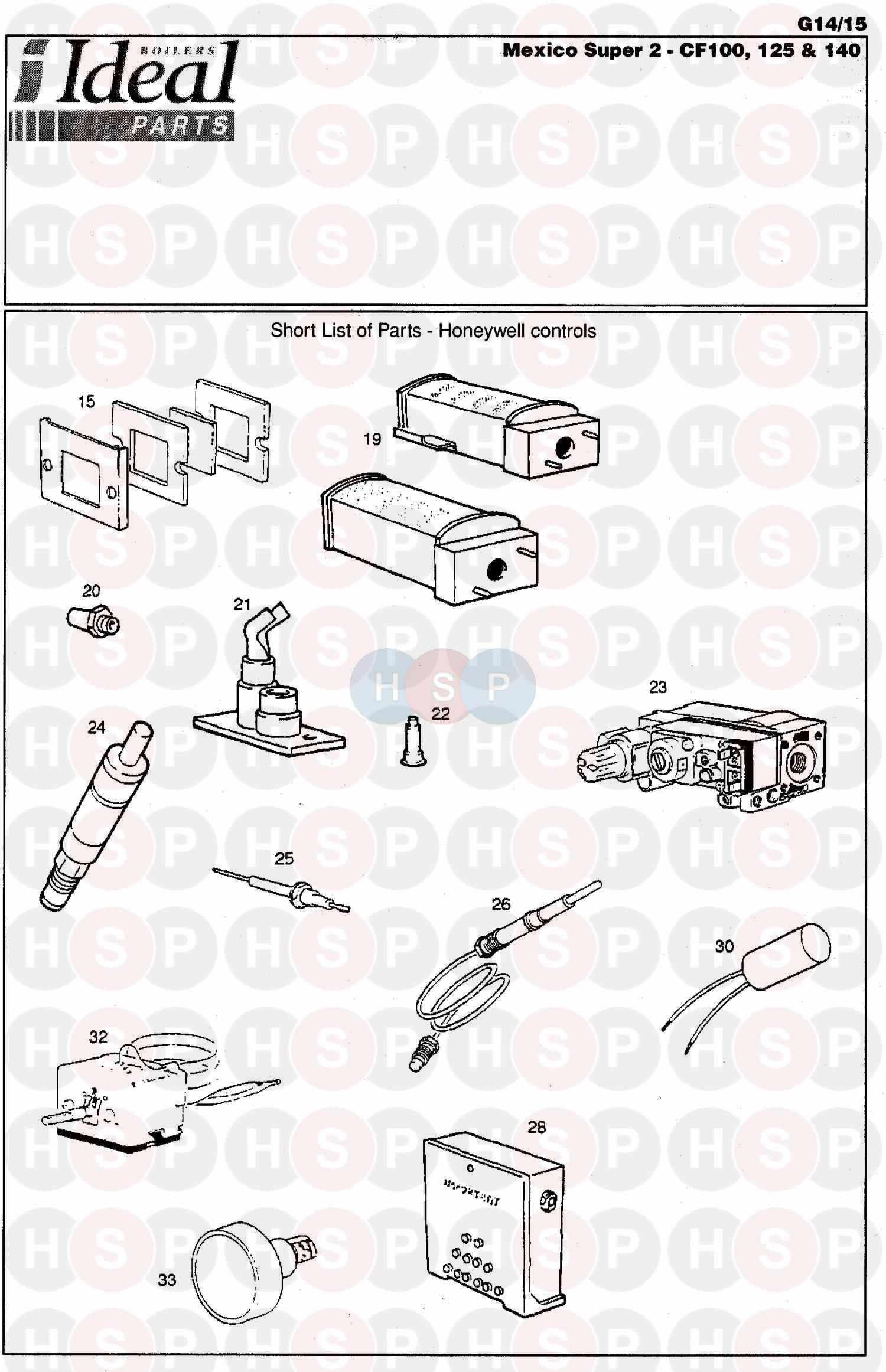 Ideal MEXICO SUPER 2 CF 140 Appliance Diagram (First Line