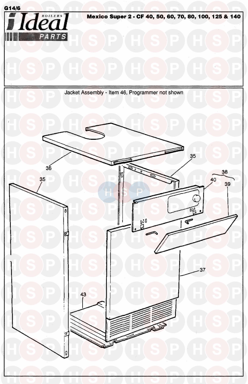 Ideal MEXICO SUPER 2 CF 80 Appliance Diagram (Boiler