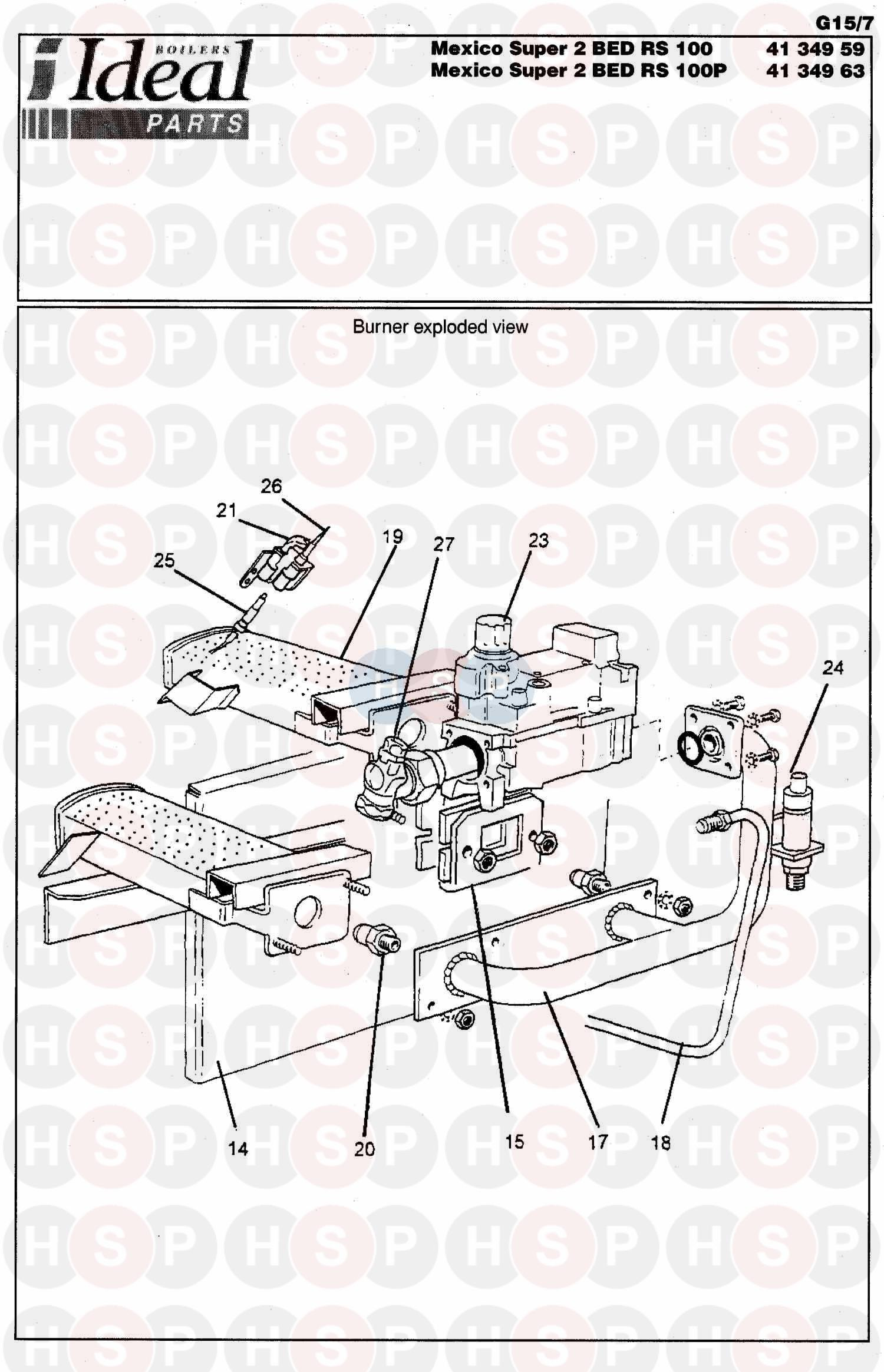 Ideal MEXICO 2 B.E.D.SUPER RS 125 (Burner Control Ass 2