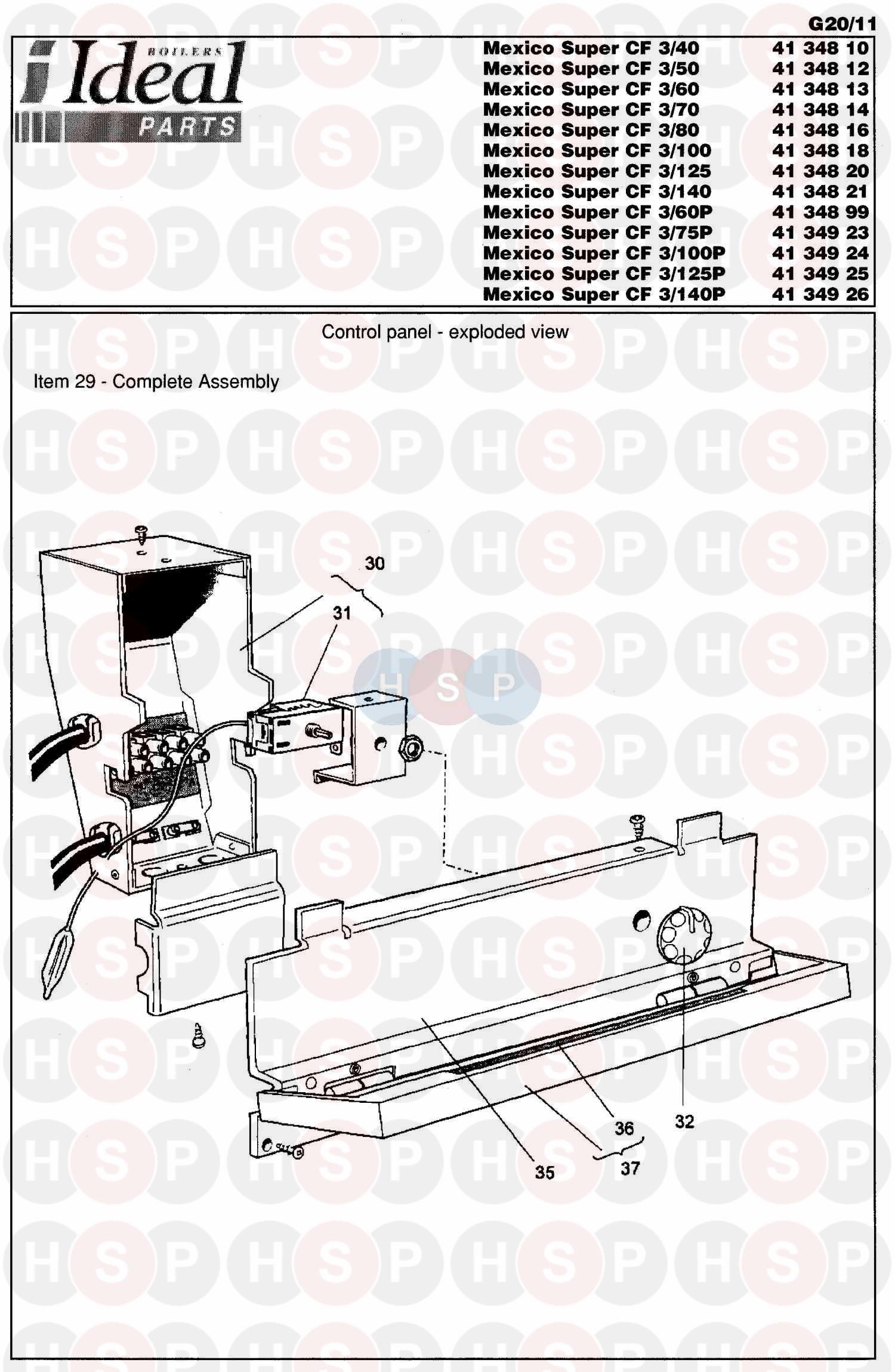 Ideal MEXICO SUPER 3 CF 80 Appliance Diagram (Control Box