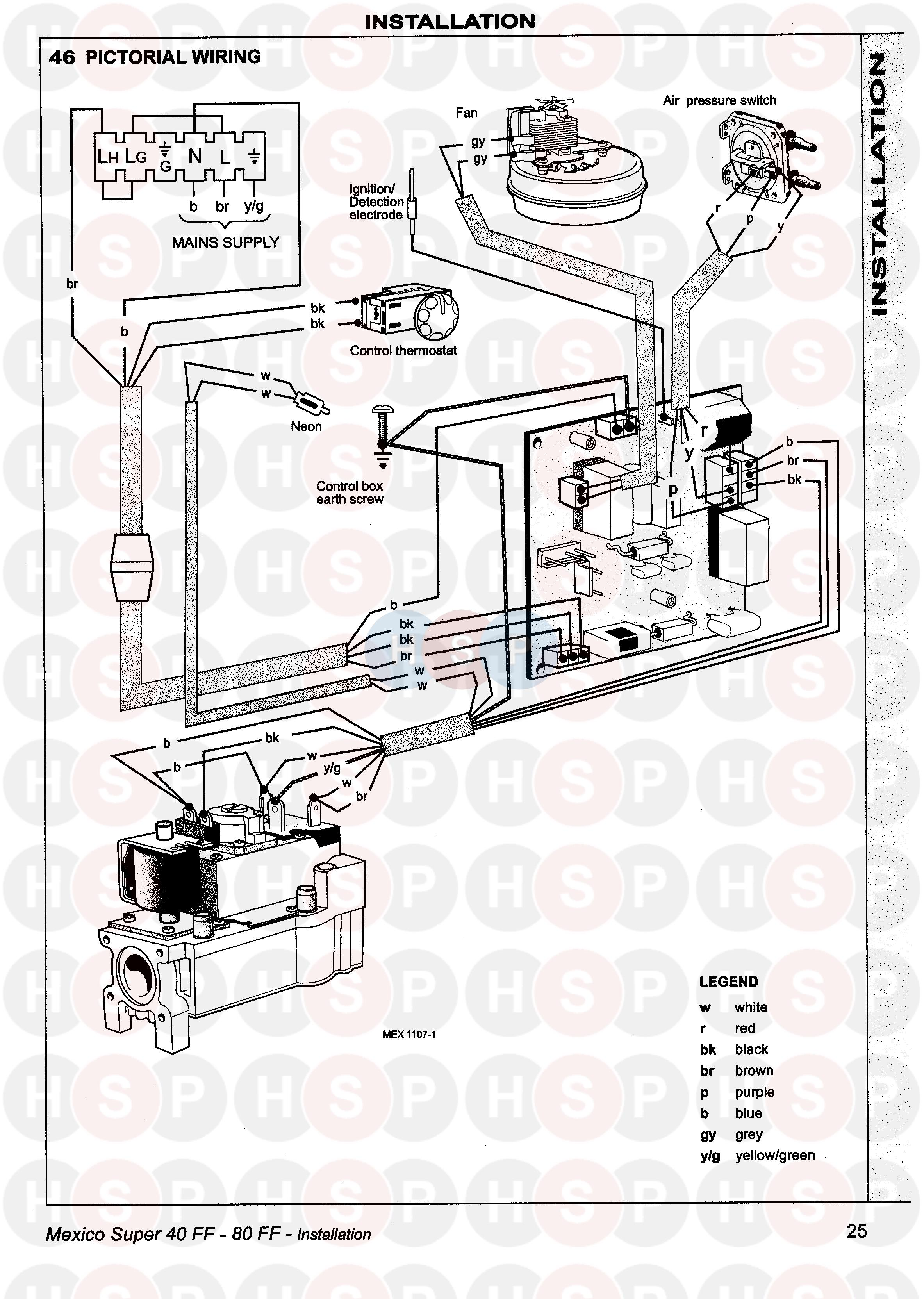 ideal mexico super 60 ff appliance diagram  wiring 2