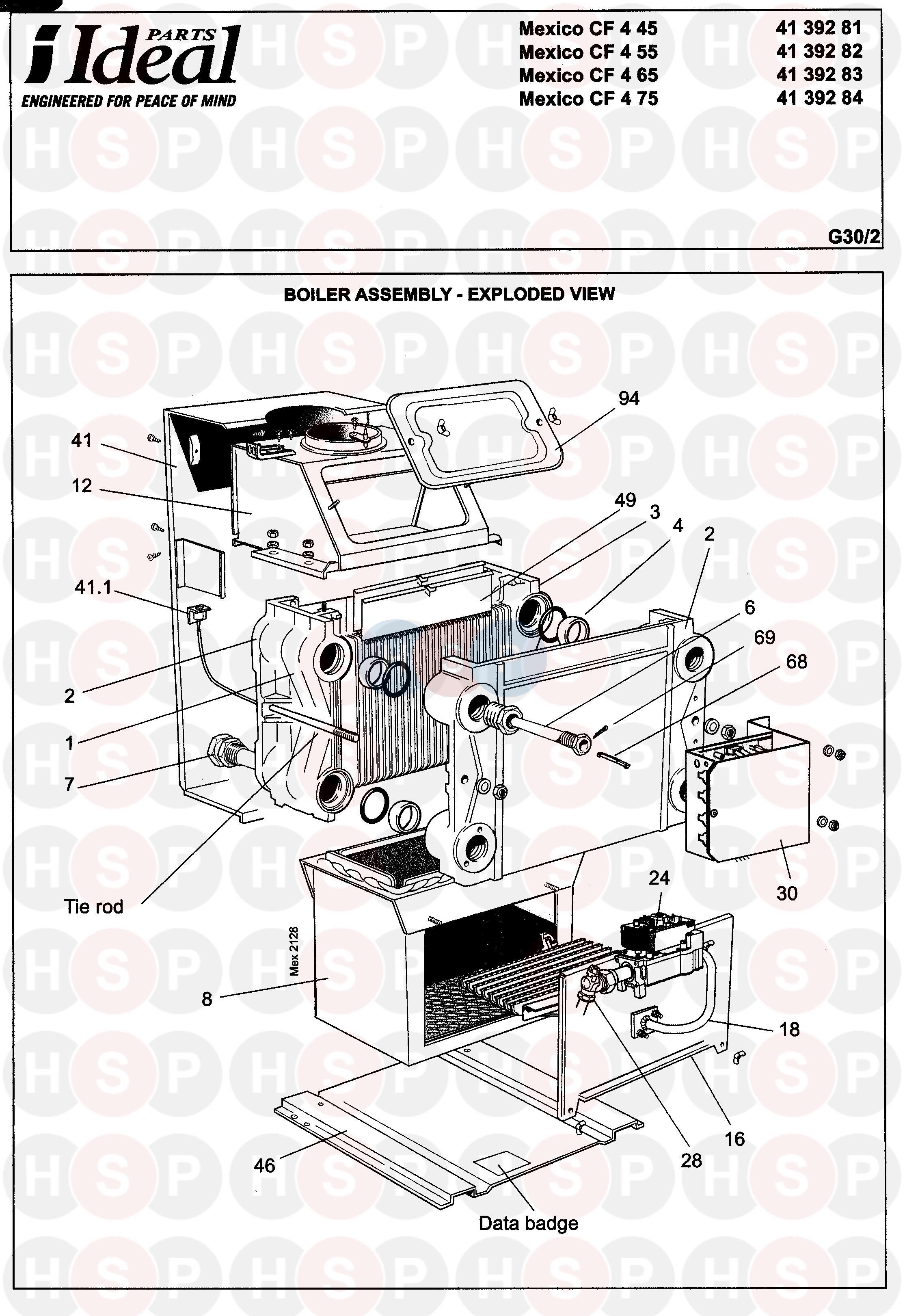 ideal mexico cf 4 95  boiler 1  diagram