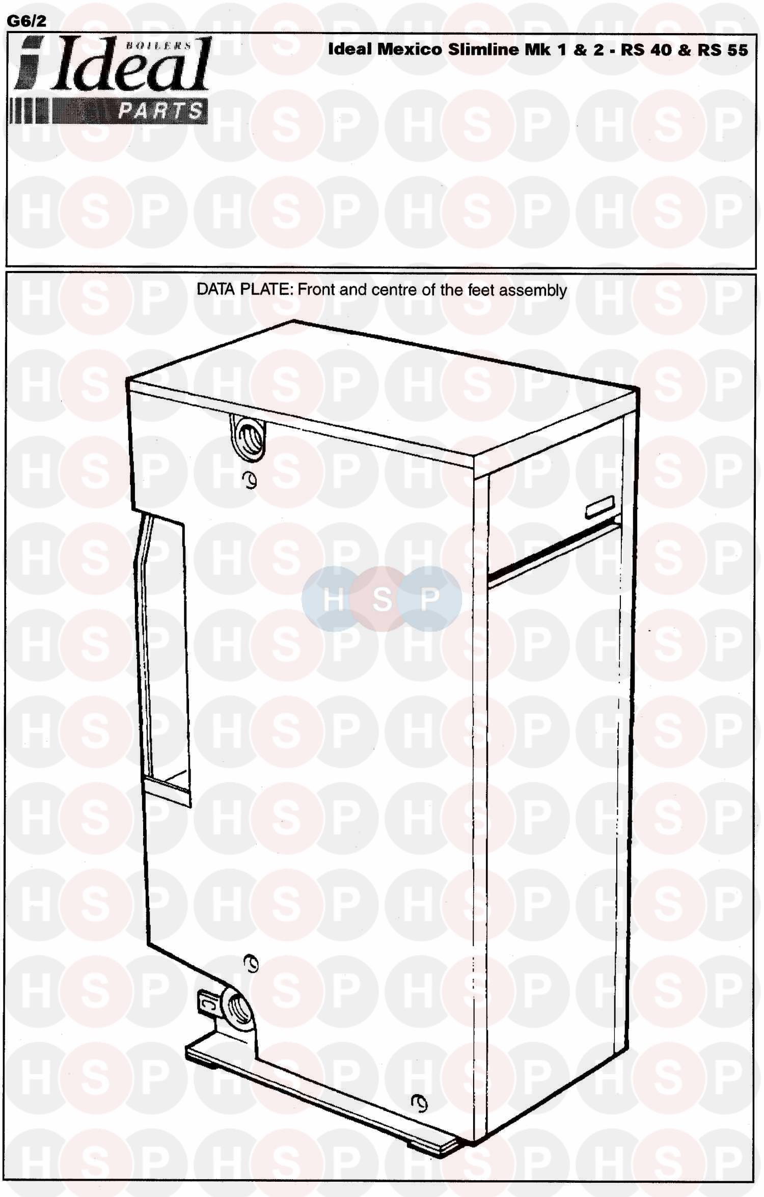 Ideal MEXICO SLIMLINE RS 55 Appliance Diagram (APPLIANCE