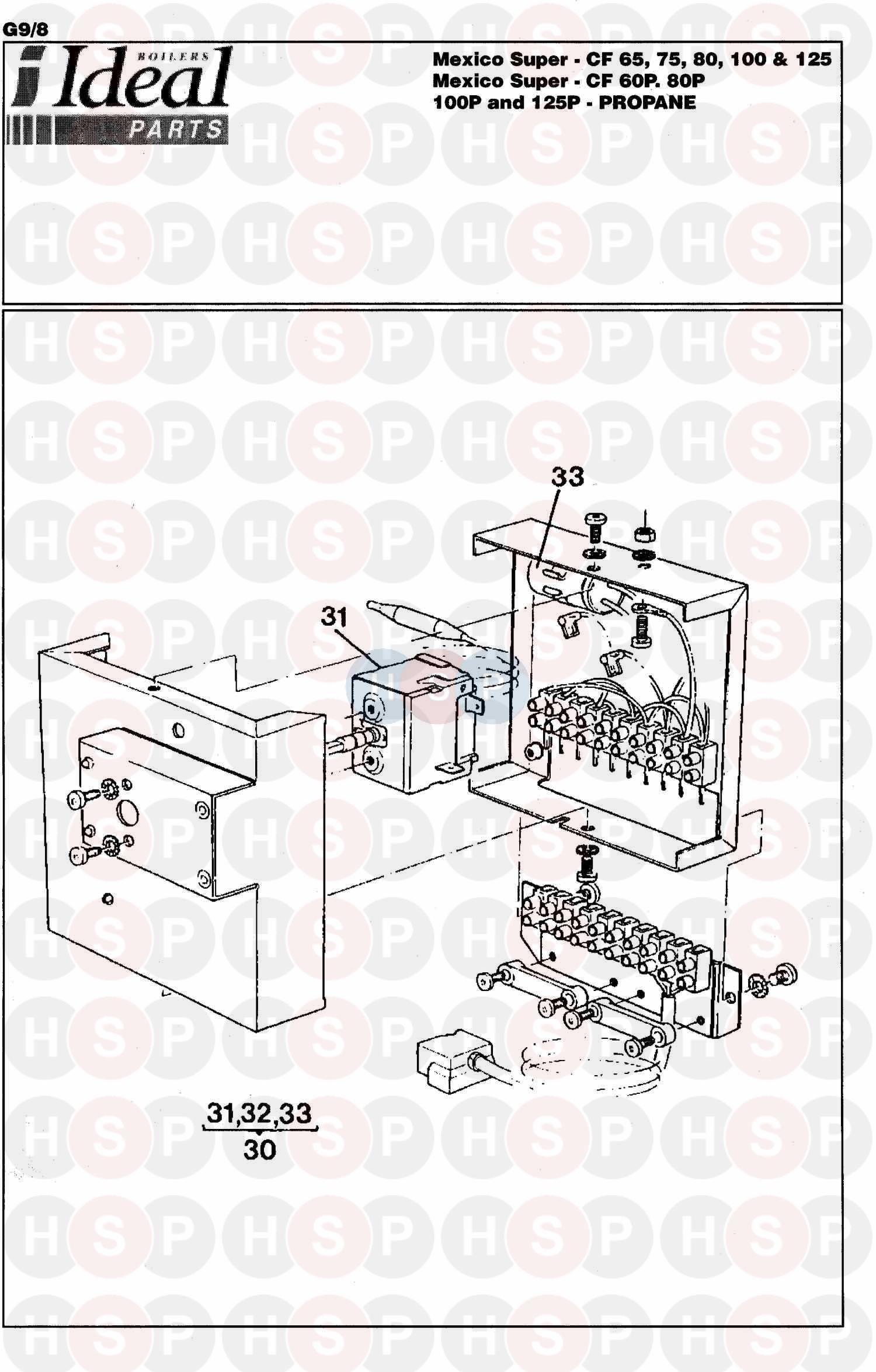 Ideal MEXICO SUPER CF 65 Appliance Diagram (Control Box