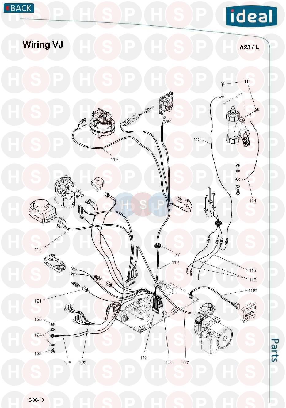 ideal mini he c24 wiring vj diagram heating spare parts. Black Bedroom Furniture Sets. Home Design Ideas