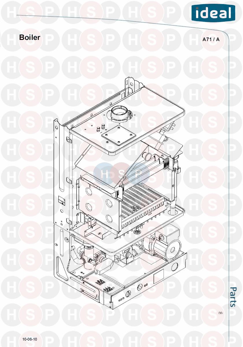 ideal europa 228  boiler  diagram