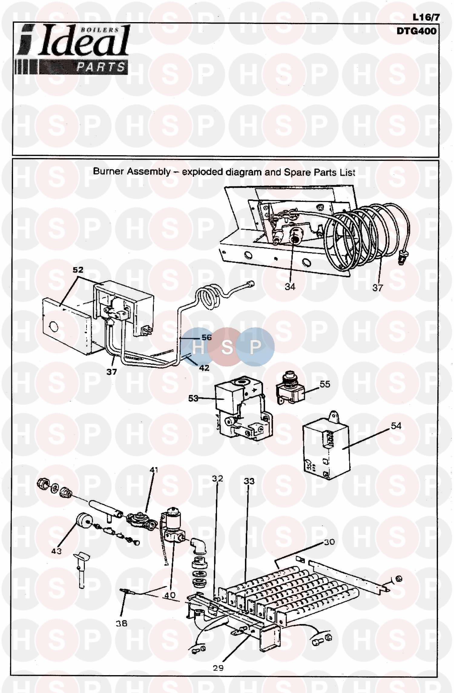 Ideal DTG S 100 BOILER (BOILER ASSEMBLY 1) Diagram