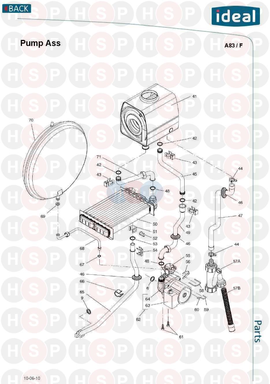 ideal mini he c28 appliance diagram  pump