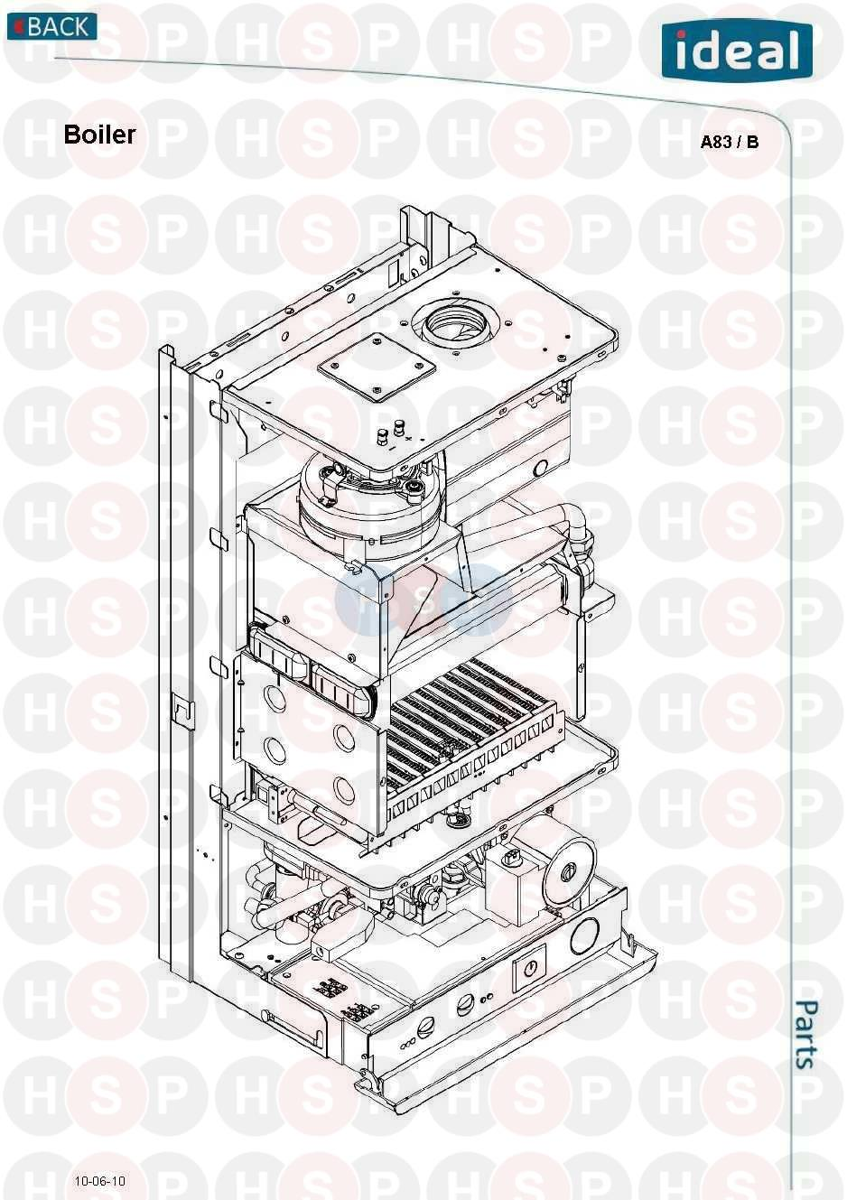 ideal mini he c24 appliance diagram  boiler