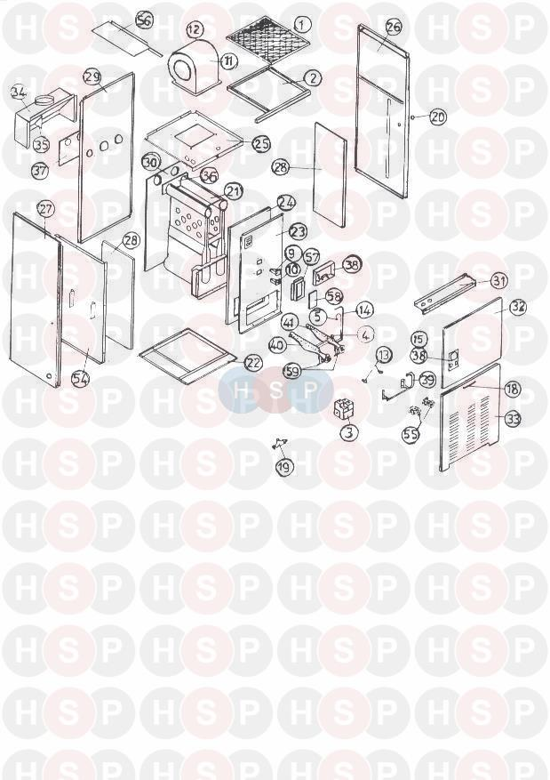GAS APPLIANCE diagram for Johnson Starley BD50WH WITH ECONOMAIRE 4