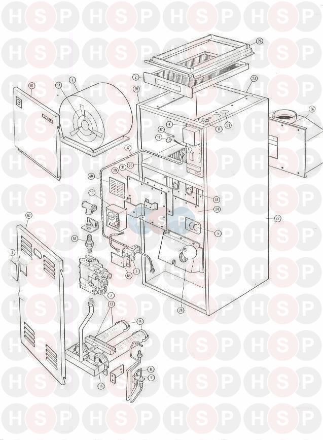 GAS APPLIANCE diagram for Johnson Starley JT19-25 MAF IV-JAN