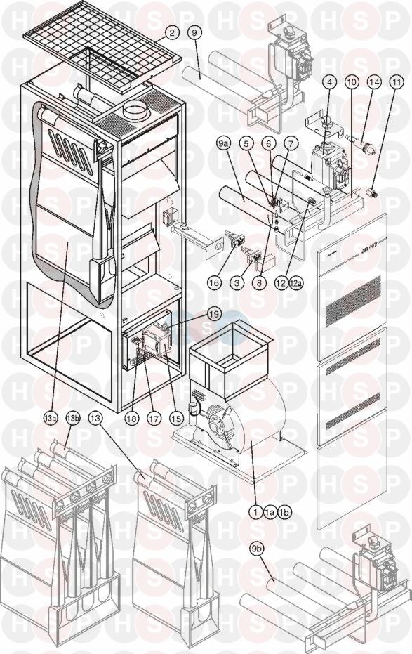 GAS APPLIANCE diagram for Johnson Starley JAH-122-HF HIGH FREQUENCY