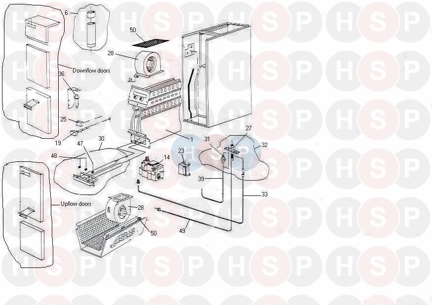 Johnson Starley B34 AIR HEATER (GAS APPLIANCE) Diagram