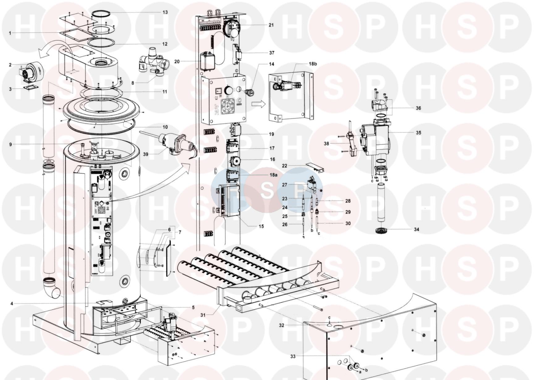 Johnson Starley STATE SDV70-260G (GAS APPLIANCE) Diagram