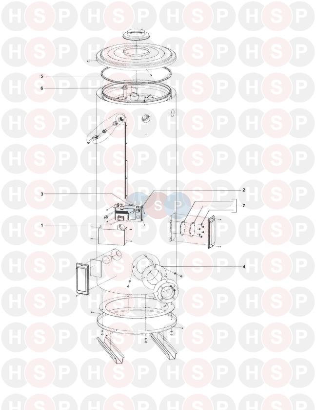 Johnson Starley STATE SOF75-390 Appliance Diagram (GAS
