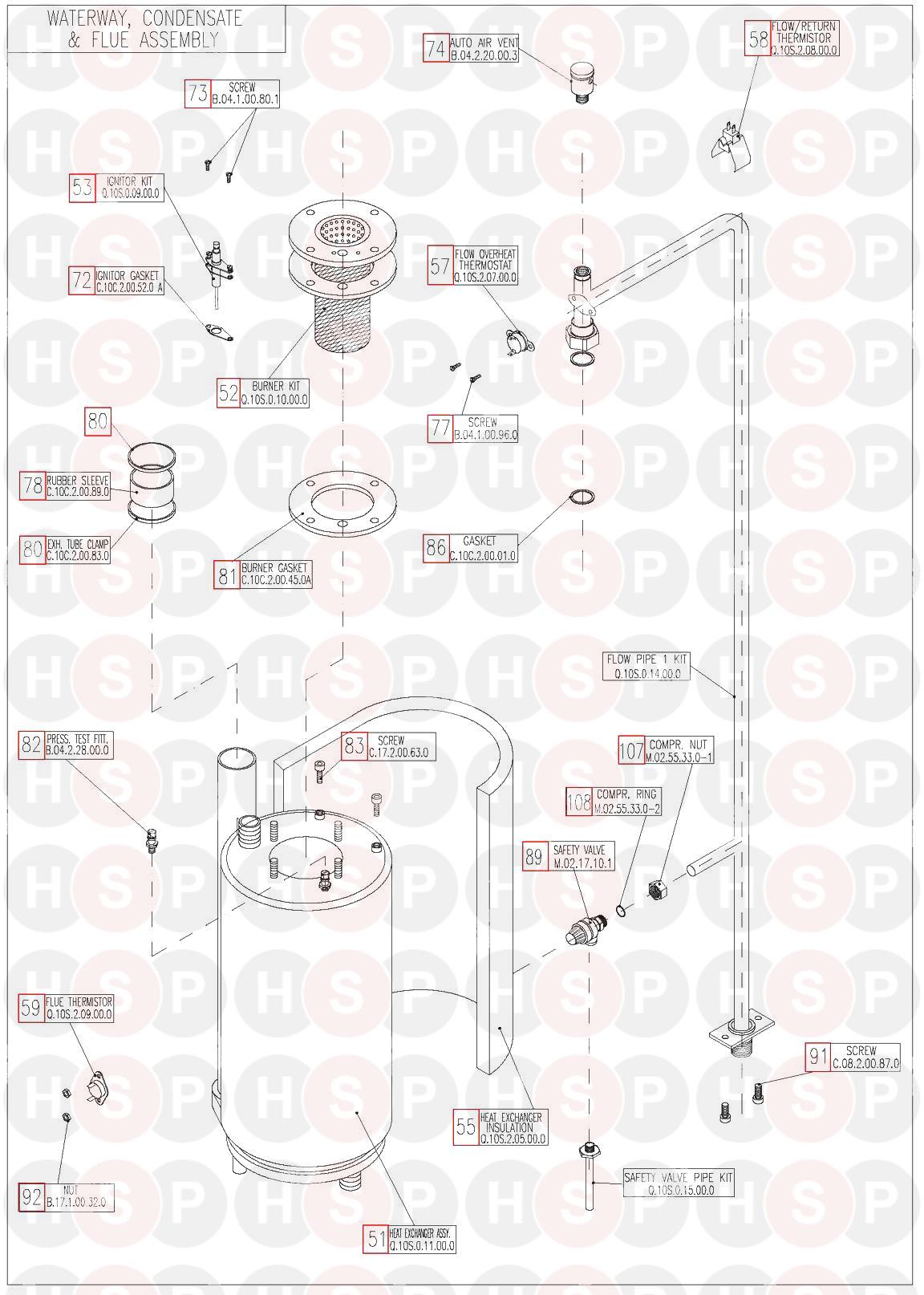 Keston KESTON QUDOS 28s Appliance Diagram (CONDENSATE