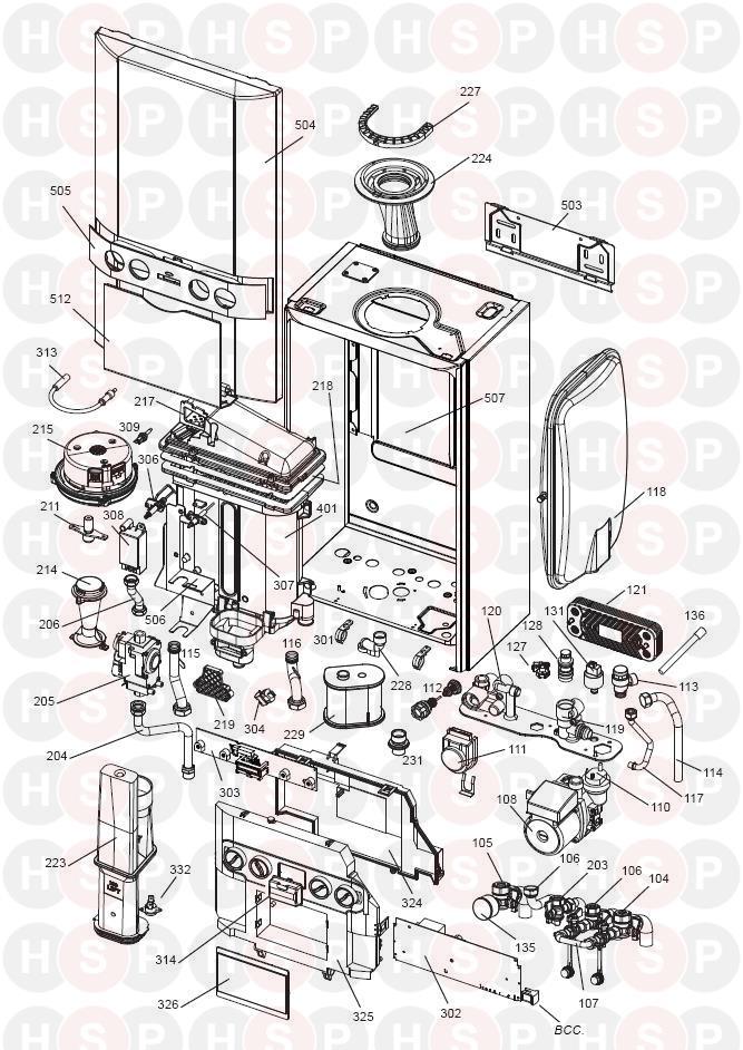 Keston KESTON COMBI 35  EXPLODED VIEW     Diagram         Heating