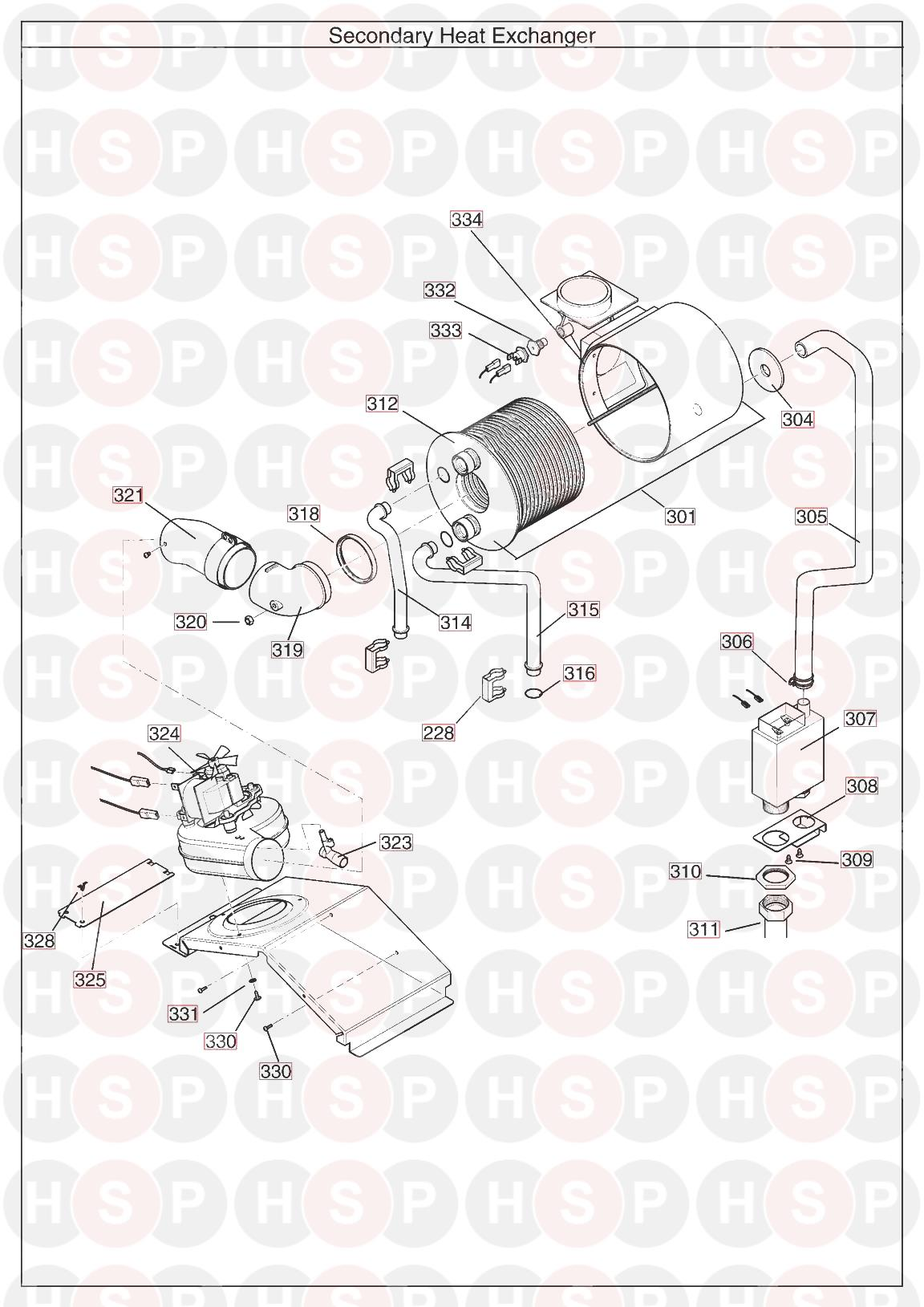 main 24 he system  heat exchanger  diagram
