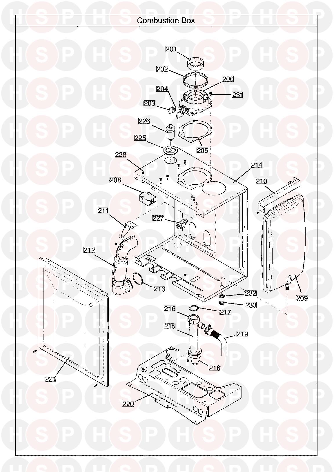 Main 24 SYSTEM ECO ELITE Appliance Diagram (COMBUSTION BOX