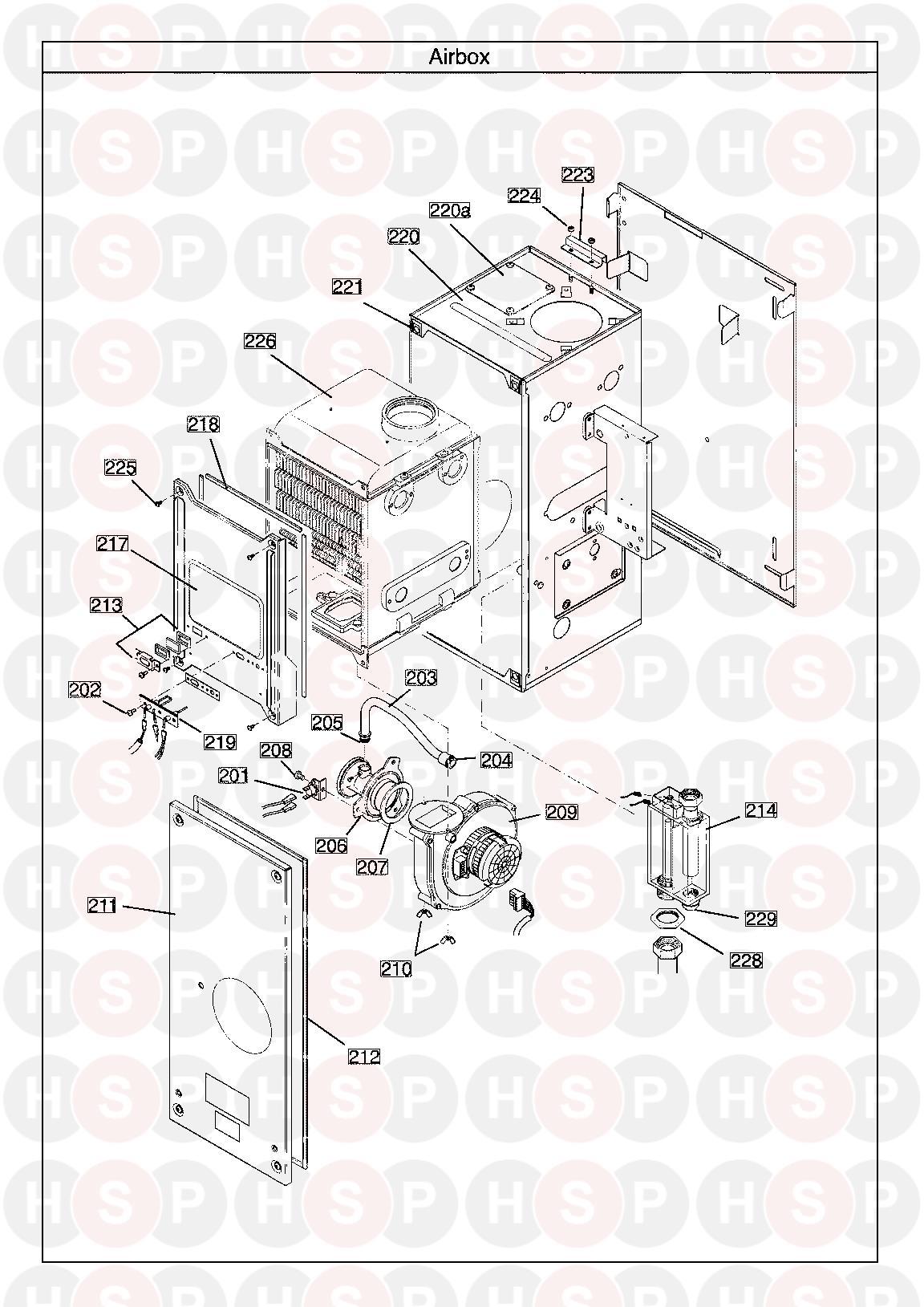 main 24 heat only erp serial no  ending in ac  air box