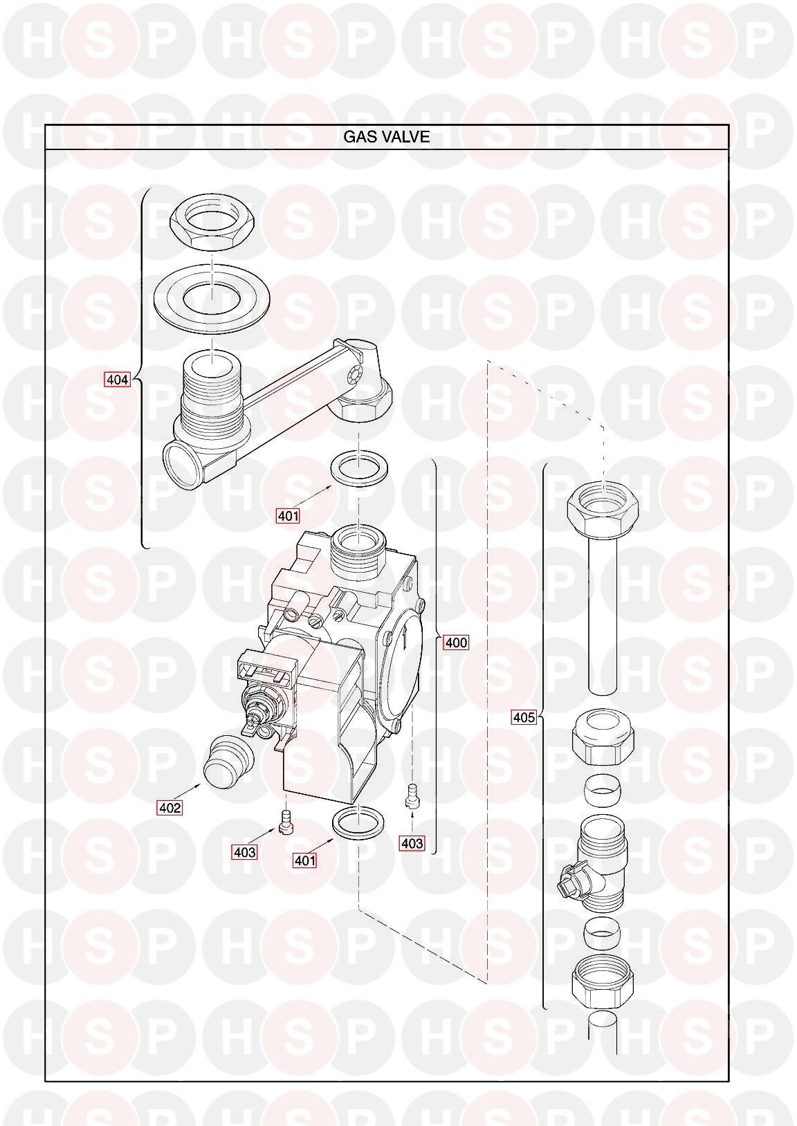 Main MULTIPOINT FF WATER HEATER (GAS VALVE) Diagram