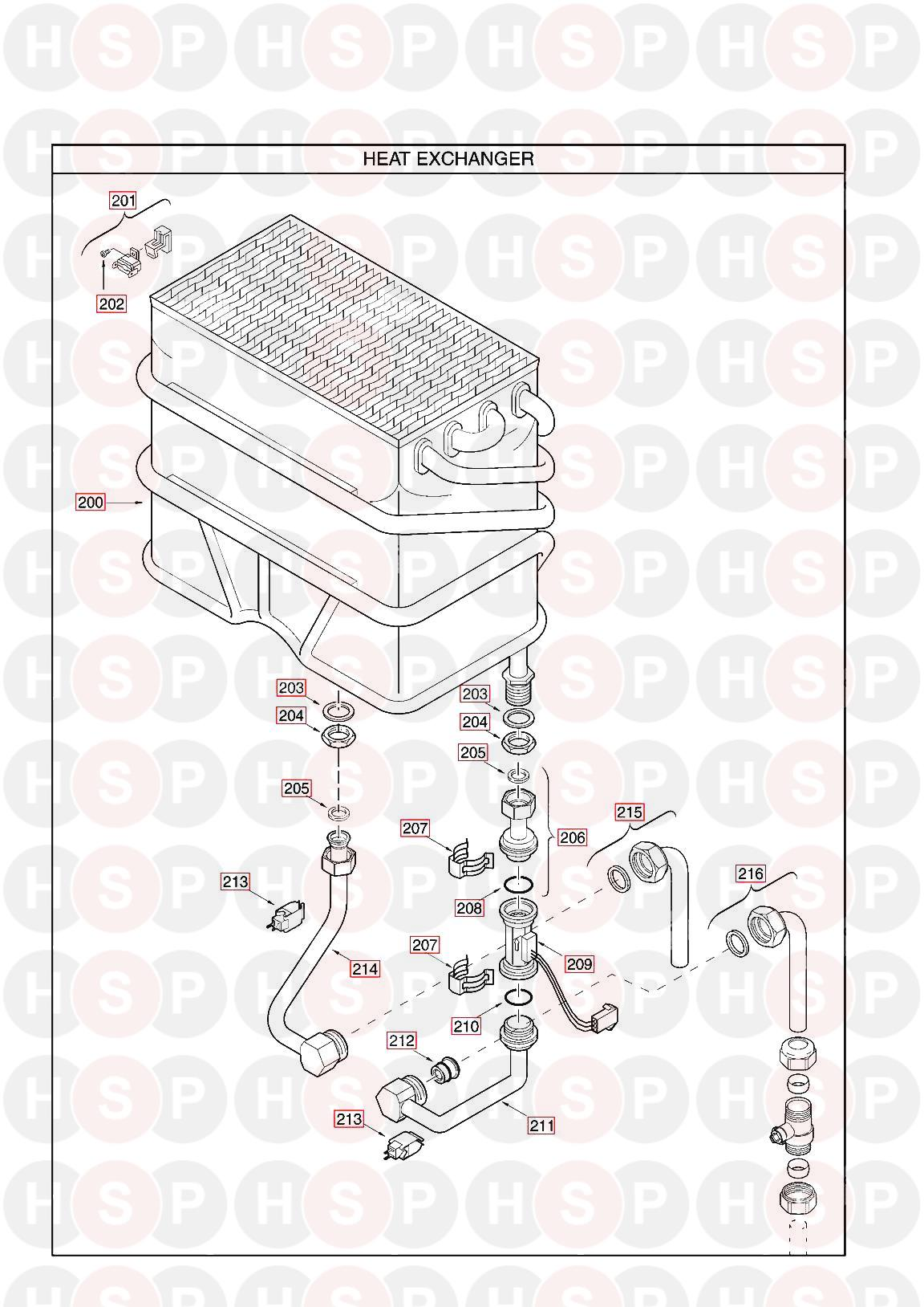 Main MULTIPOINT FF WATER HEATER (HEAT EXCHANGER) Diagram