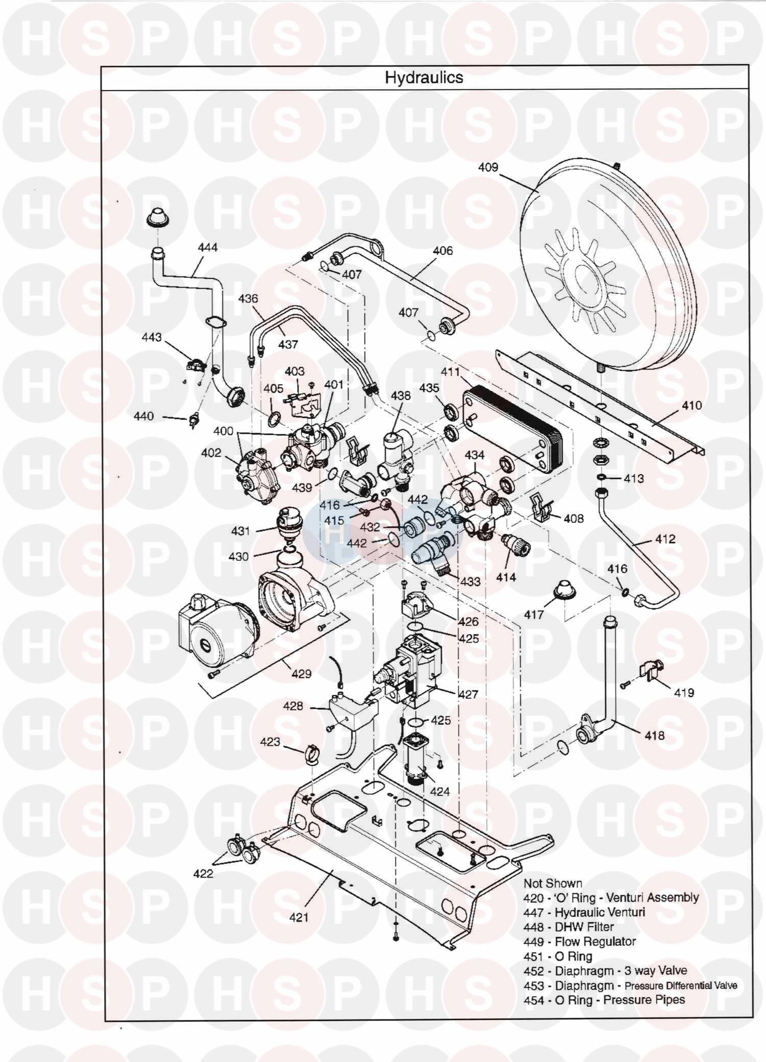 Main Combi 30he Hydraulics Diagram Heating Spare Parts