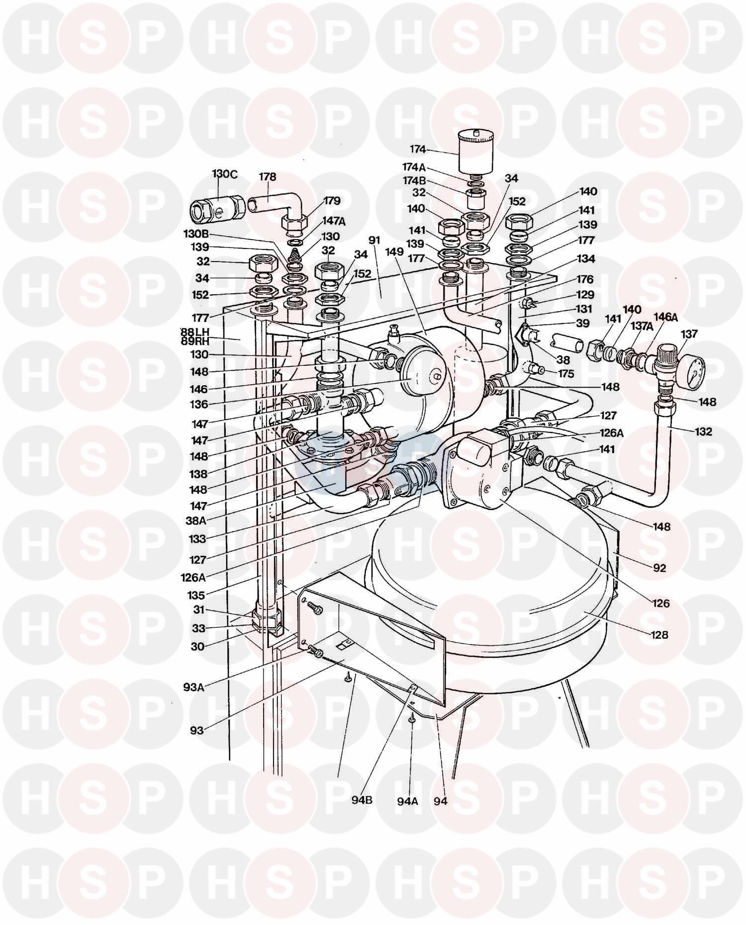 myson gemini 1988 sealed diagram heating spare parts. Black Bedroom Furniture Sets. Home Design Ideas