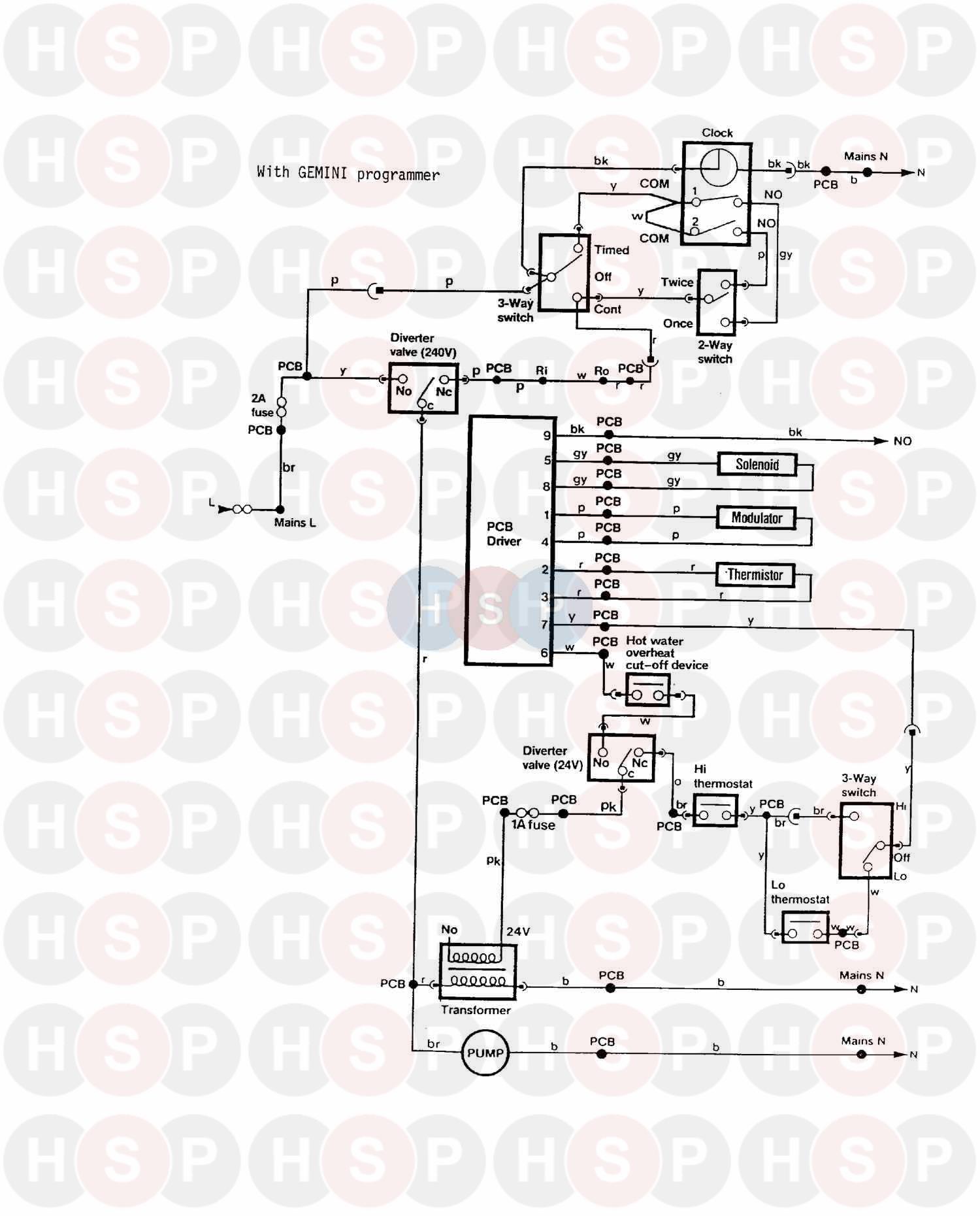 myson gemini 1988 wiring 1 diagram heating spare parts. Black Bedroom Furniture Sets. Home Design Ideas