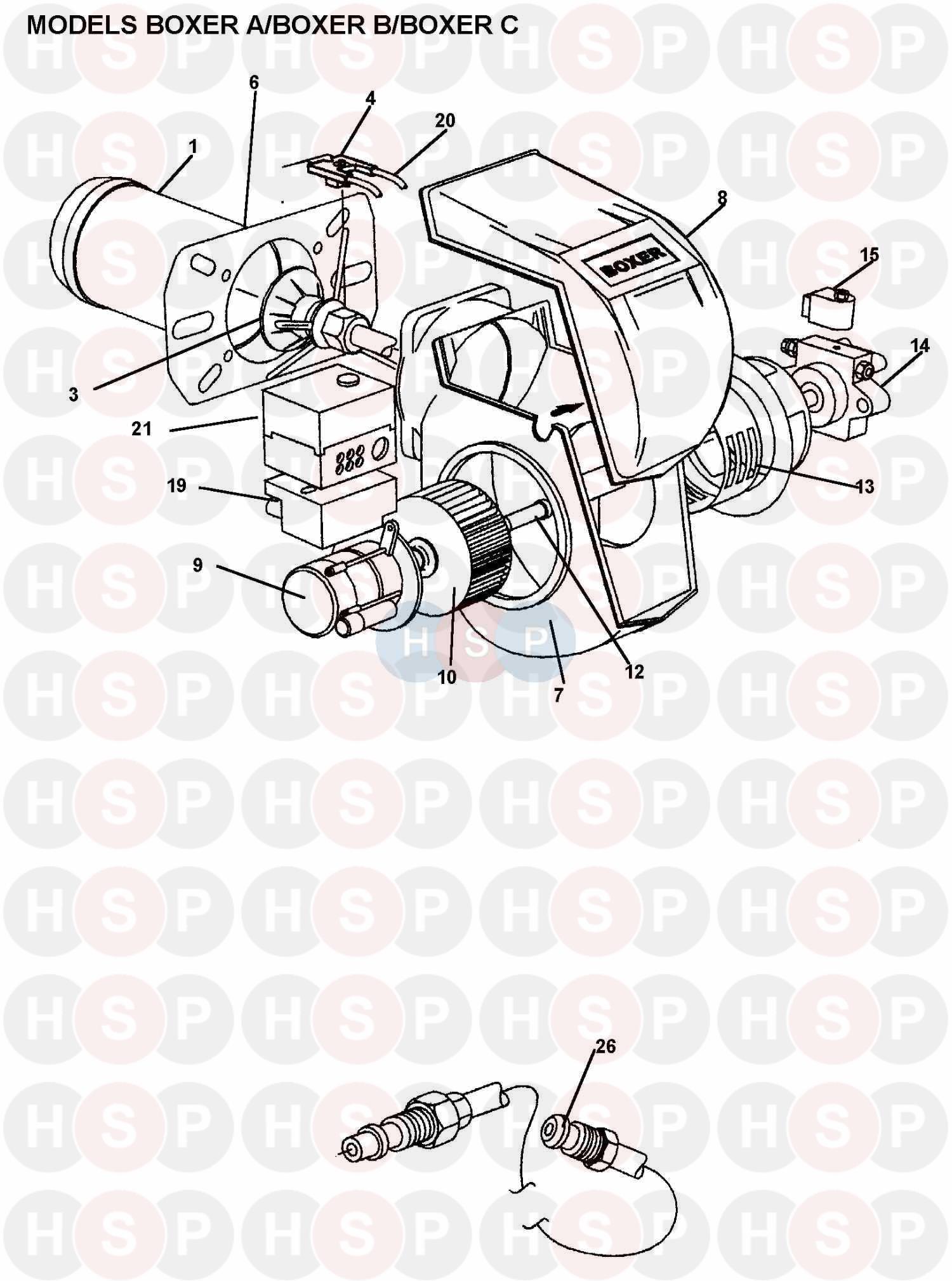 Nu-Way BOXER C (BURNER 1) Diagram | Heating Spare Parts on